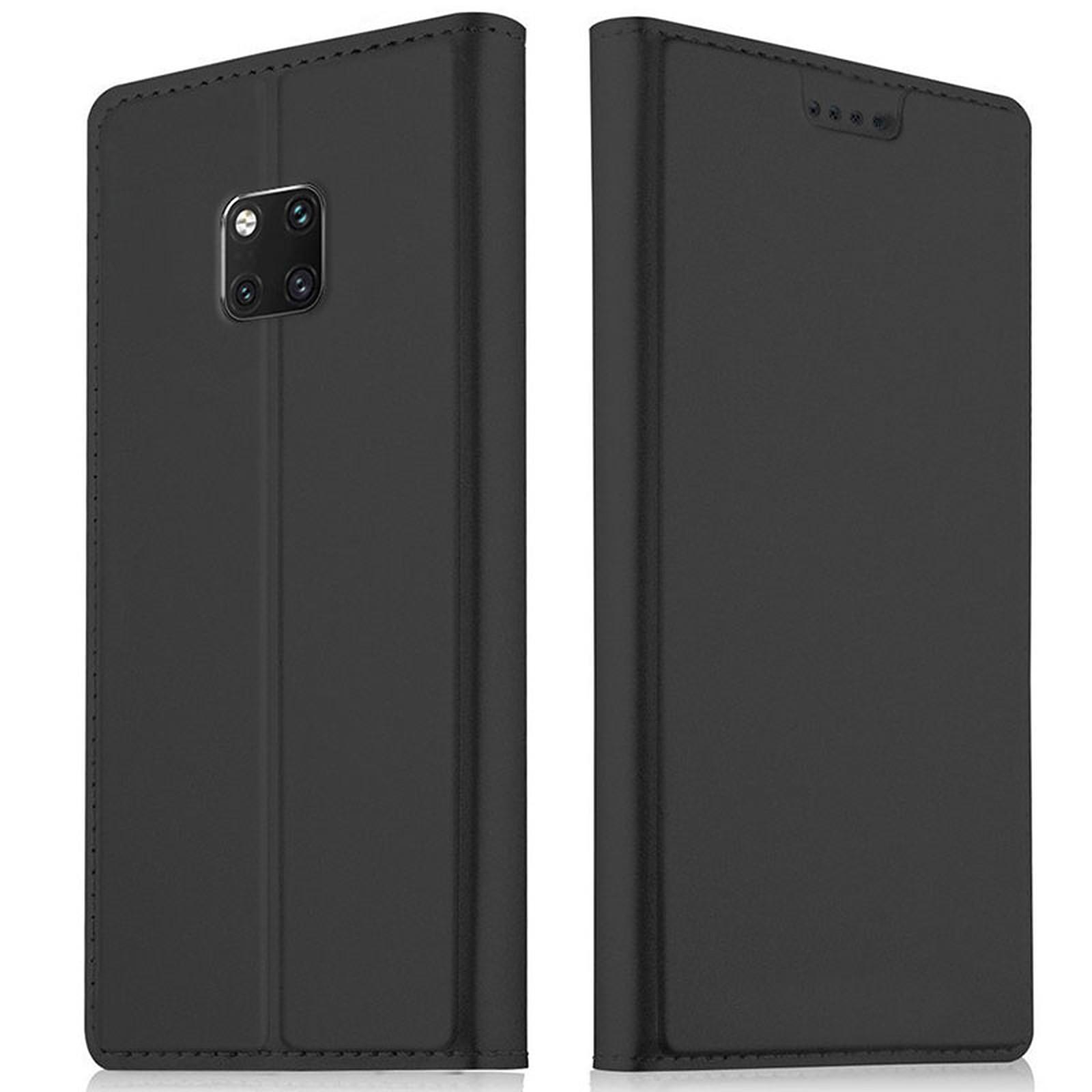 Akashi Etui Folio Porte Carte Noir Huawei Mate 20 Pro