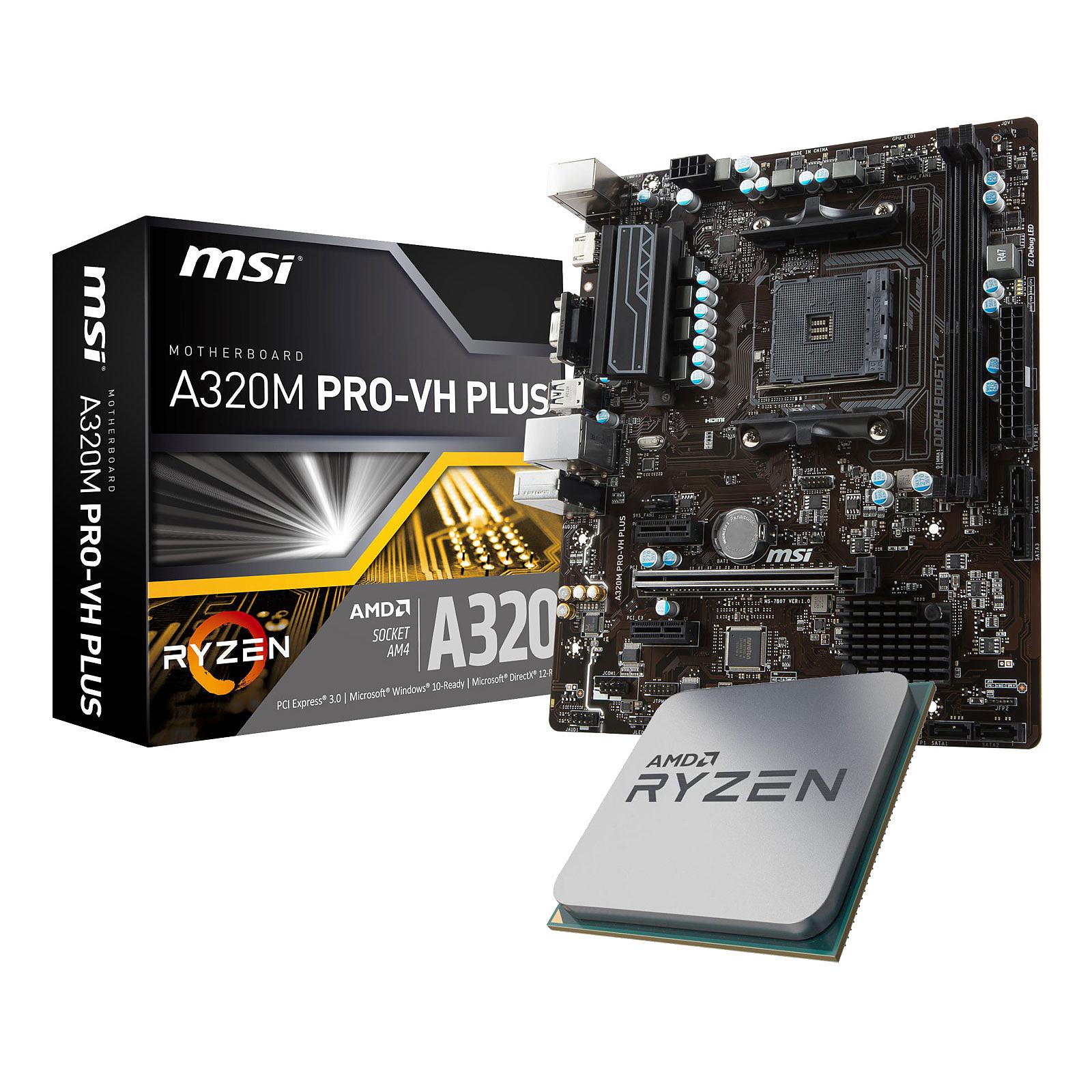 Kit Upgrade PC AMD Ryzen 5 2400G MSI A320M PRO-VH PLUS