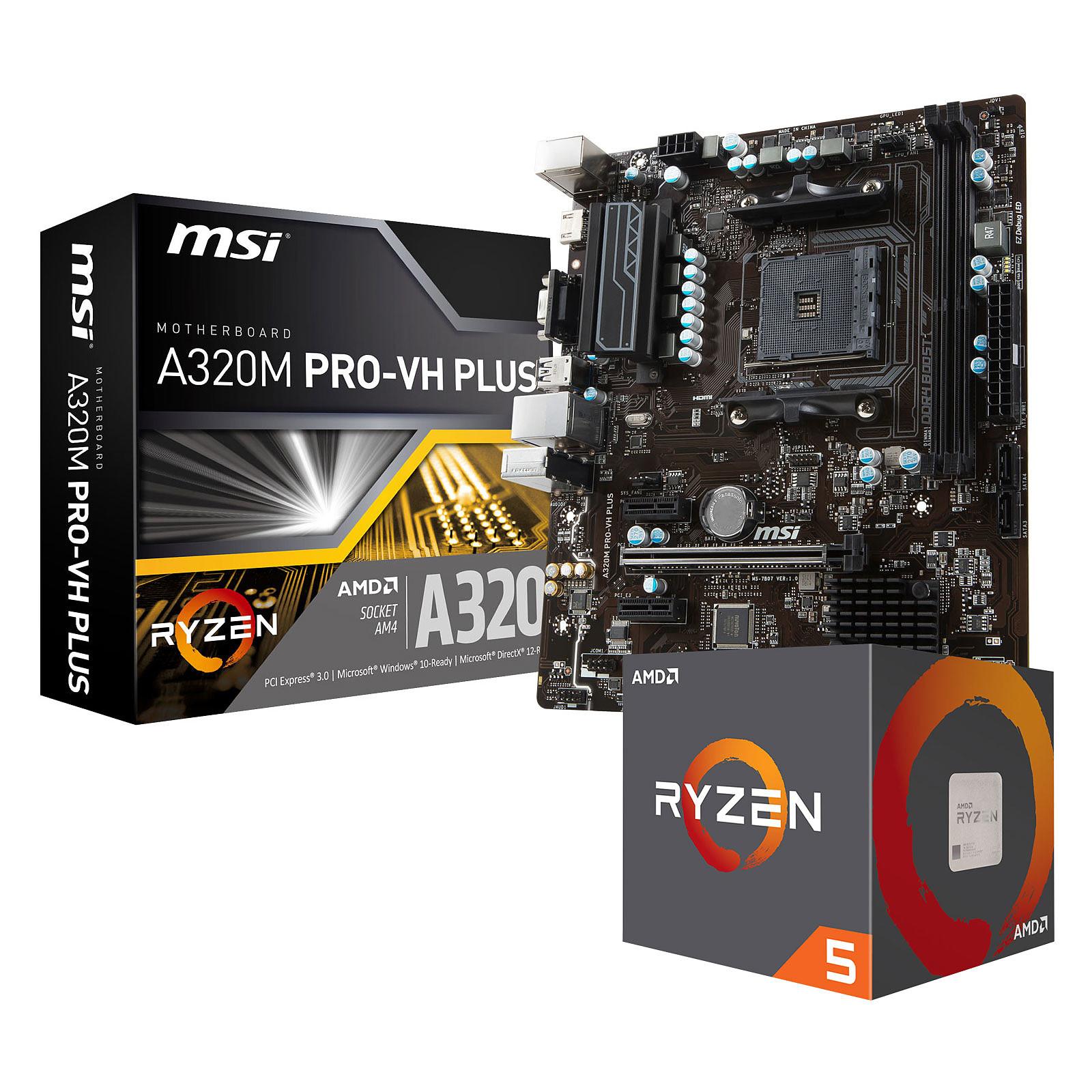 Kit Upgrade PC AMD Ryzen 5 1600 MSI A320M PRO-VH PLUS