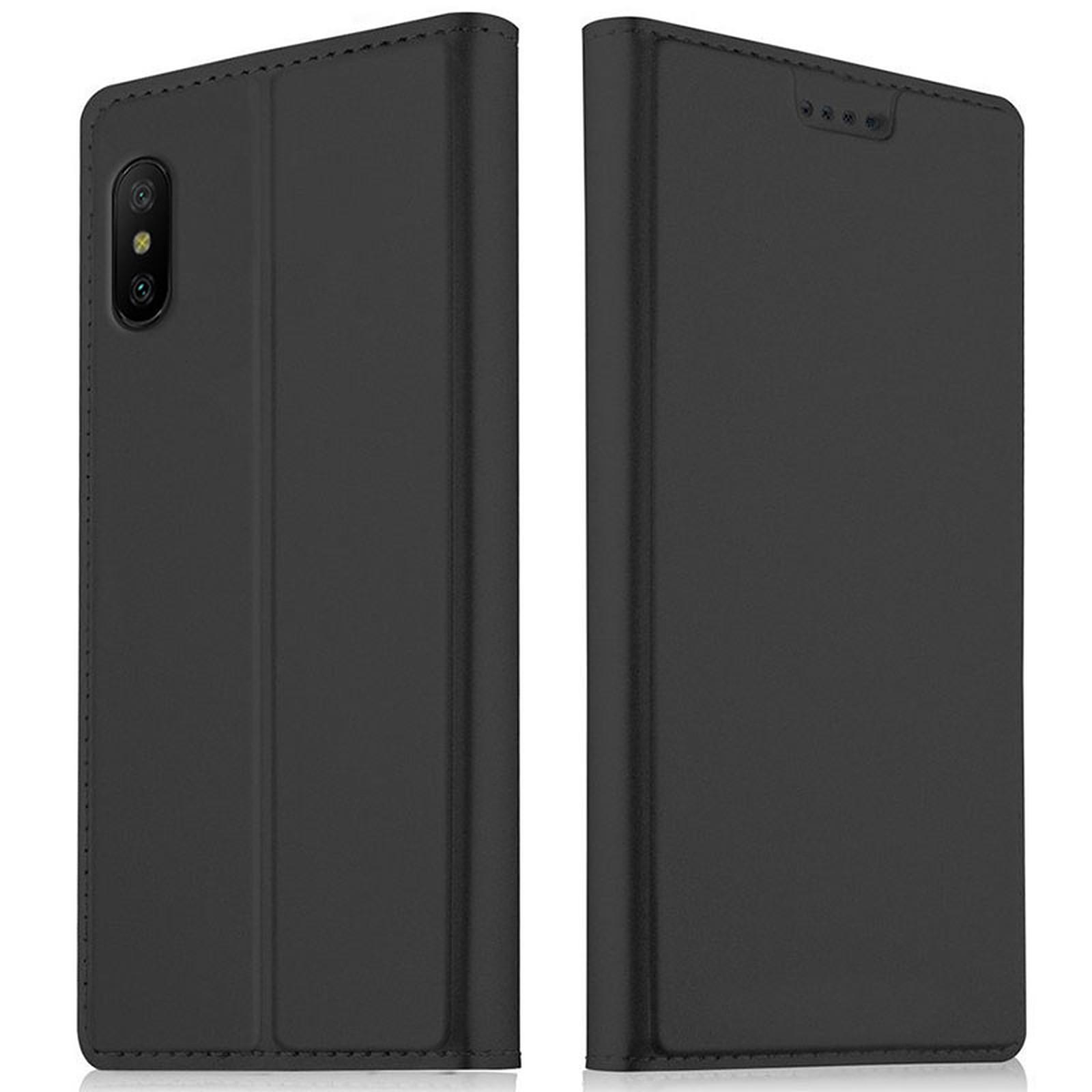 Akashi Etui Folio Porte Carte Noir Xiaomi Mi 8 Pro