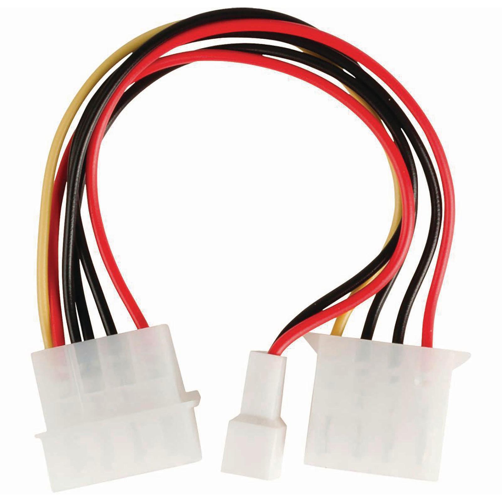 Nedis Adaptateur d'alimentation Molex mâle vers Molex femelle + Connecteur ventilateur 3 broches