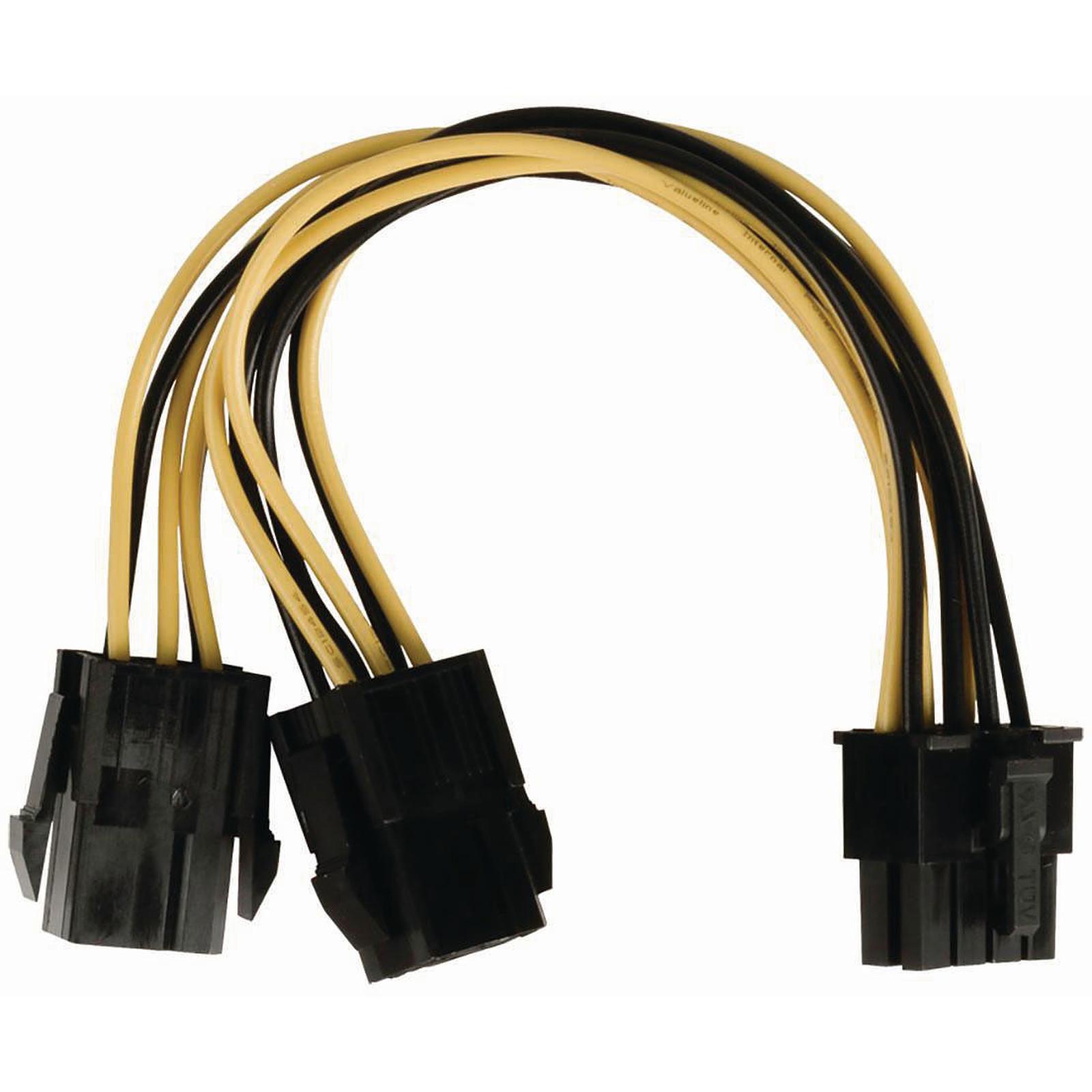 Nedis Adaptateur d'alimentation 2x PCI-Express 6 broches vers P8
