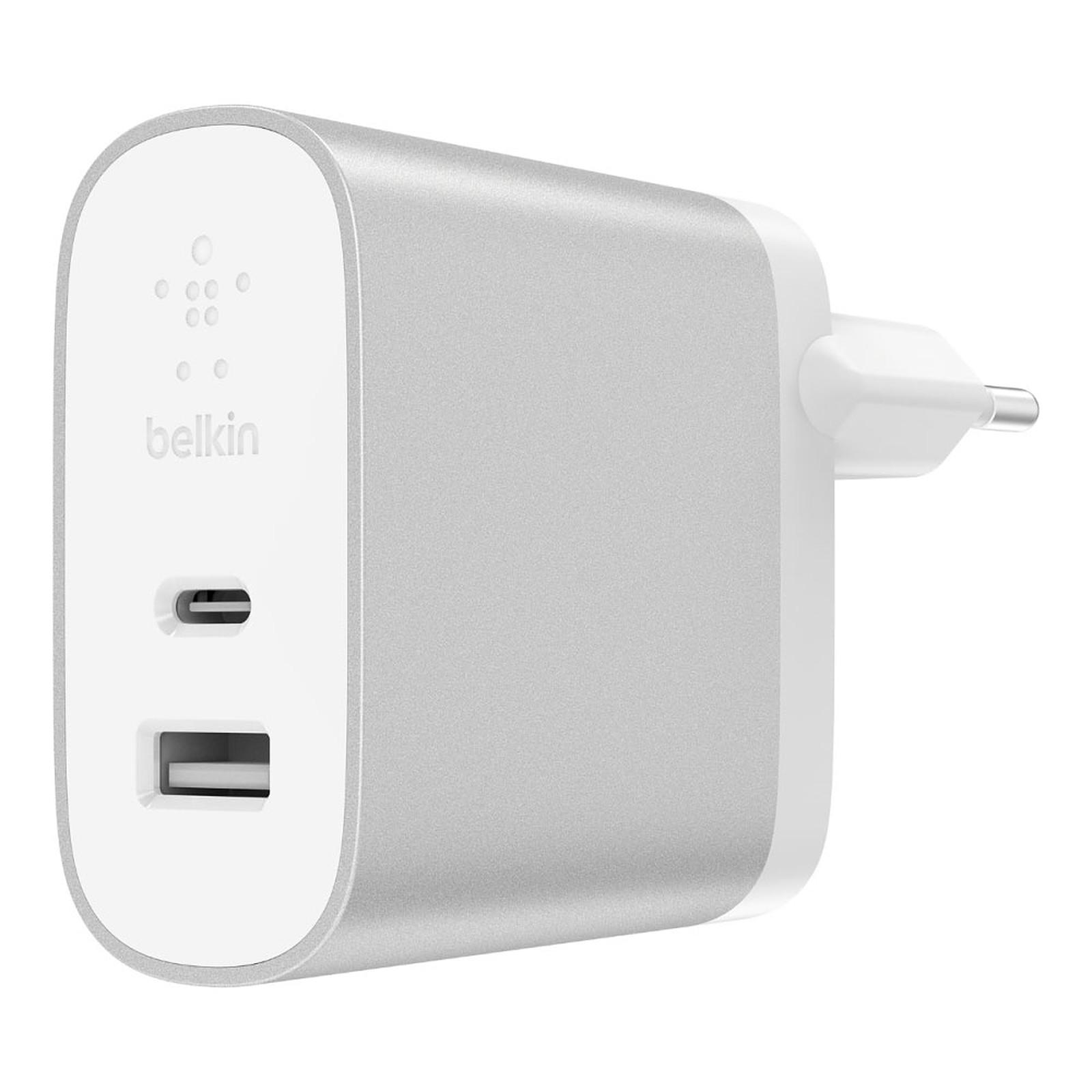 Belkin Chargeur Secteur Boost Charge USB-C/USB-A (F7U061VF-SLV)