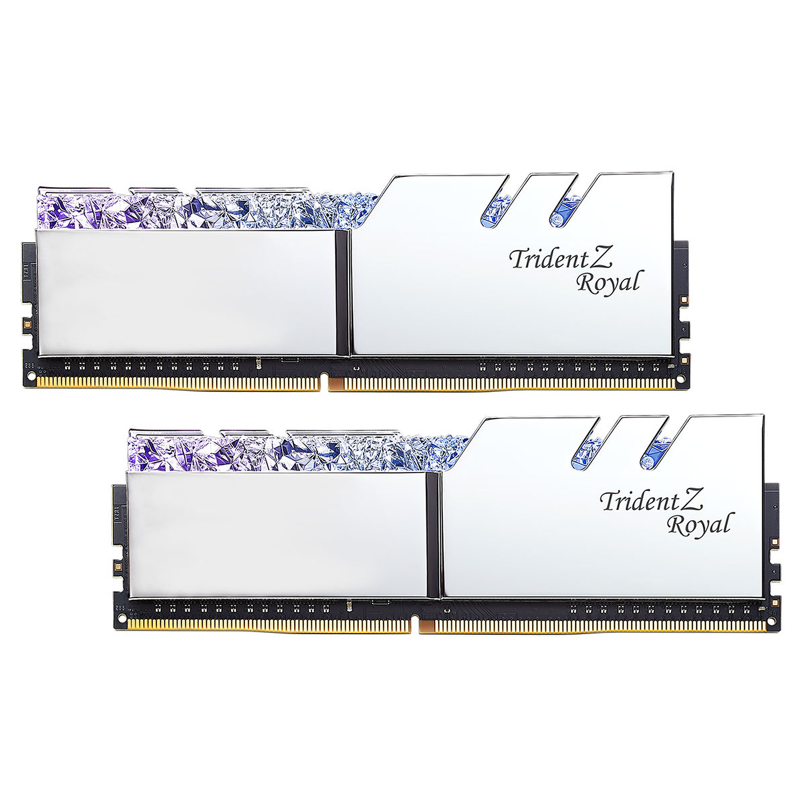 G.Skill Trident Z Royal 32 Go (2x 16 Go) DDR4 3200 MHz CL16 - Argent