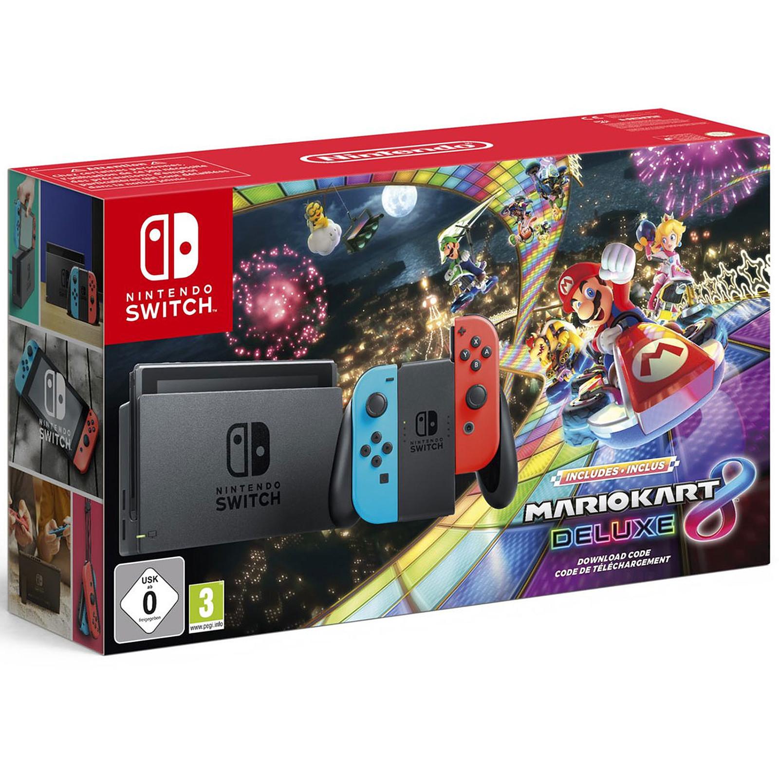 Nintendo Switch (Rouge/Bleu) + Mario Kart 8 Deluxe
