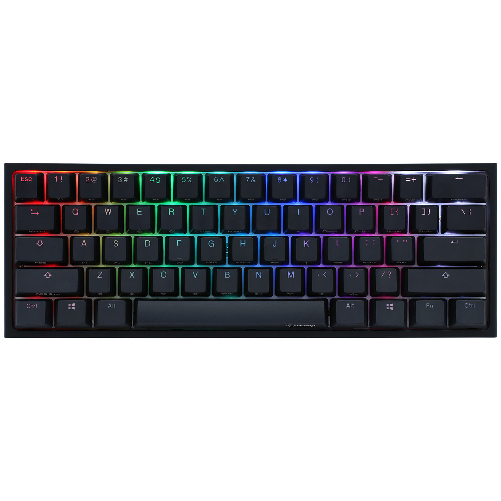 Ducky Channel One 2 Mini RGB Noir (Cherry MX RGB Speed Silver)