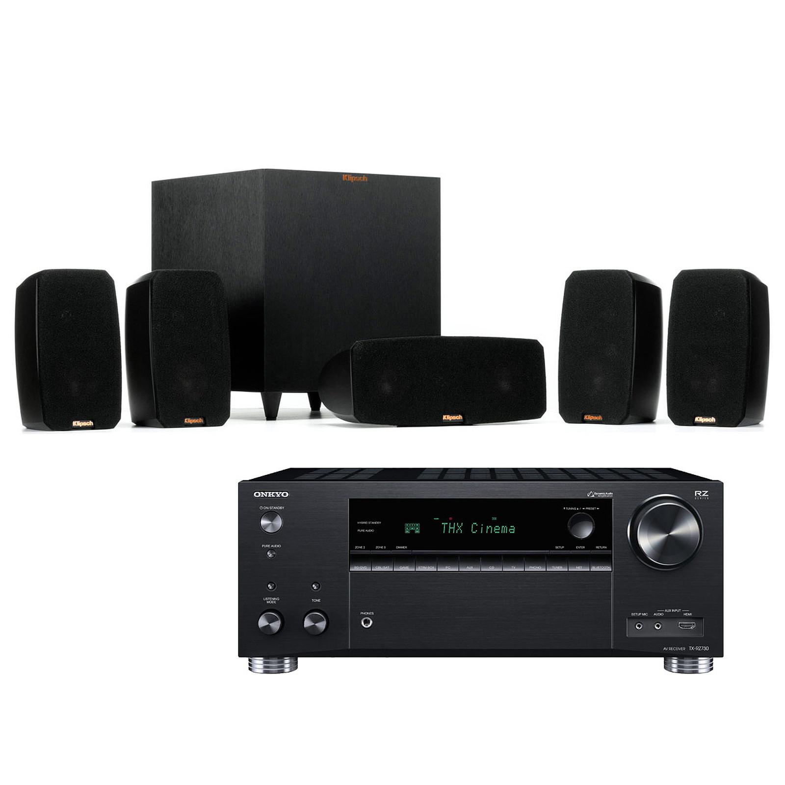 Onkyo TX-RZ730 Noir + Klipsch Reference Theater Pack