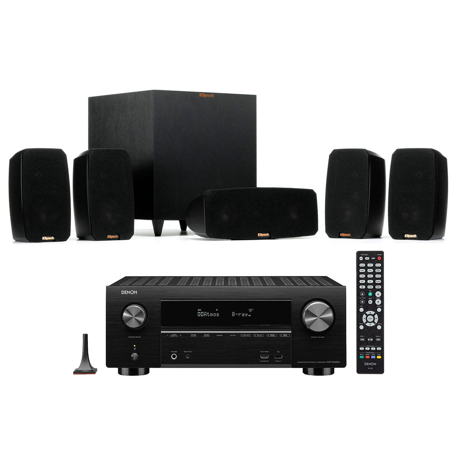 Denon AVR-X3500H Noir + Klipsch Reference Theater Pack