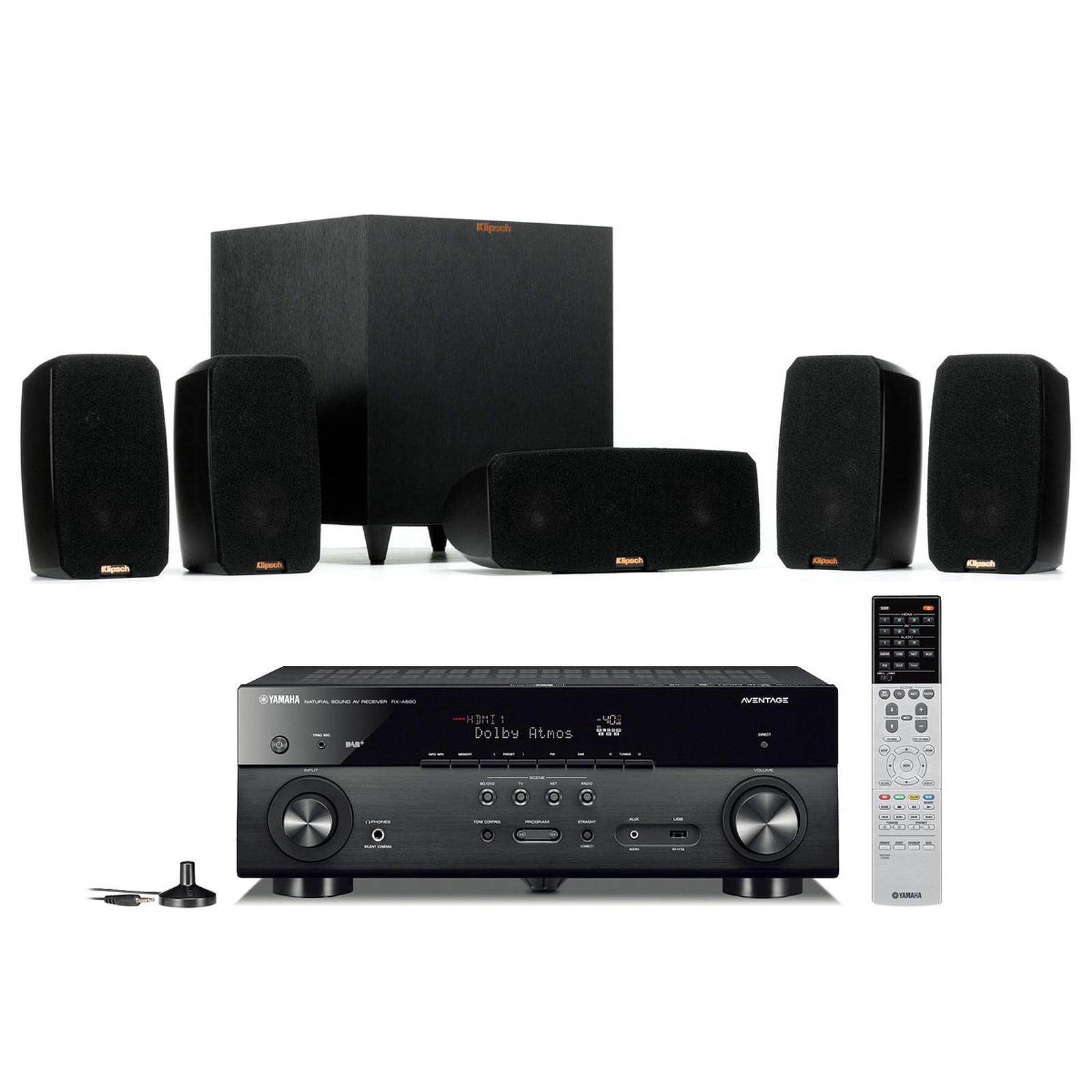 Yamaha MusicCast RX-A680 Noir + Klipsch Reference Theater Pack