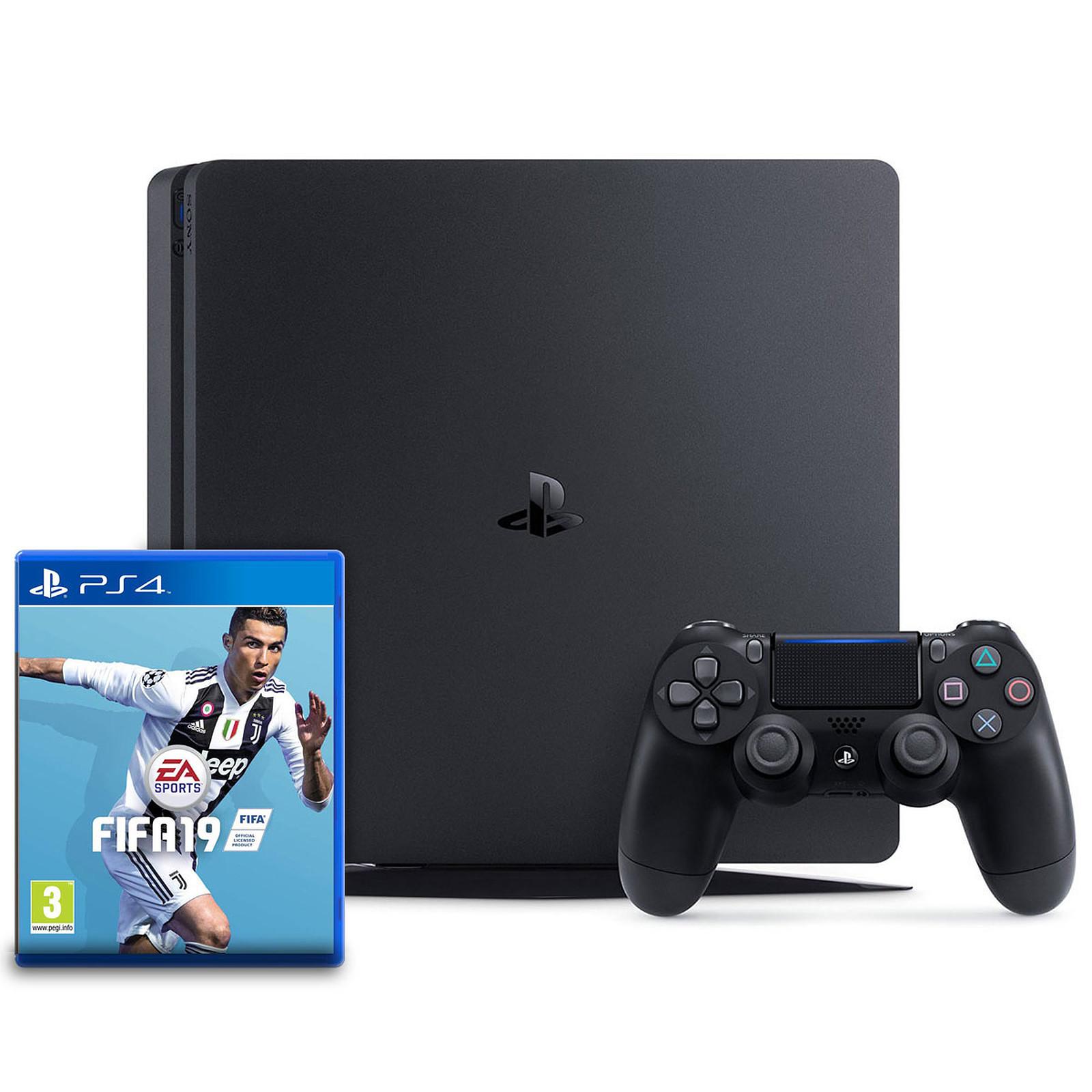 Sony PlayStation 4 Slim (500 Go) + FIFA 19