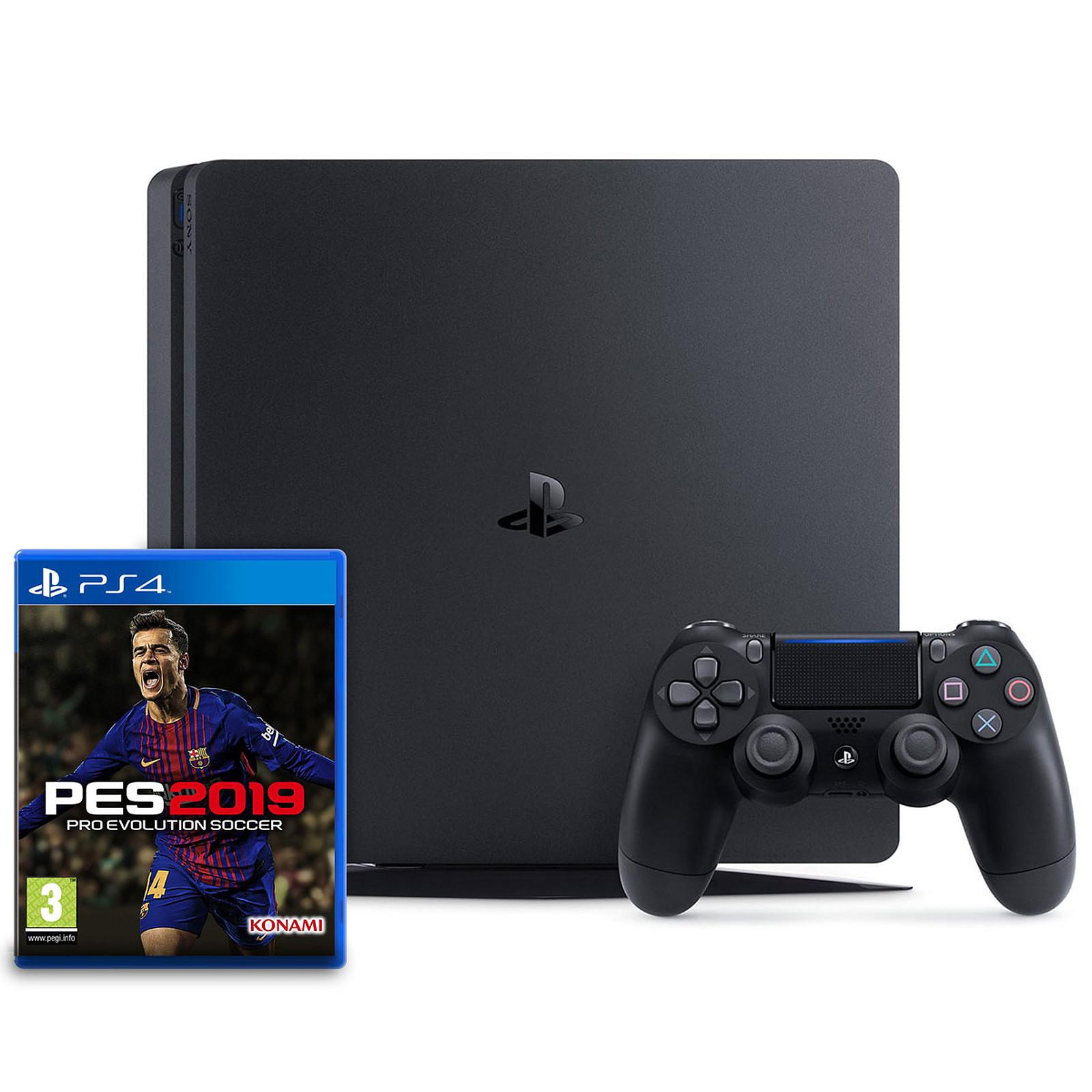 Sony PlayStation 4 Slim (500 Go) + PES 2019