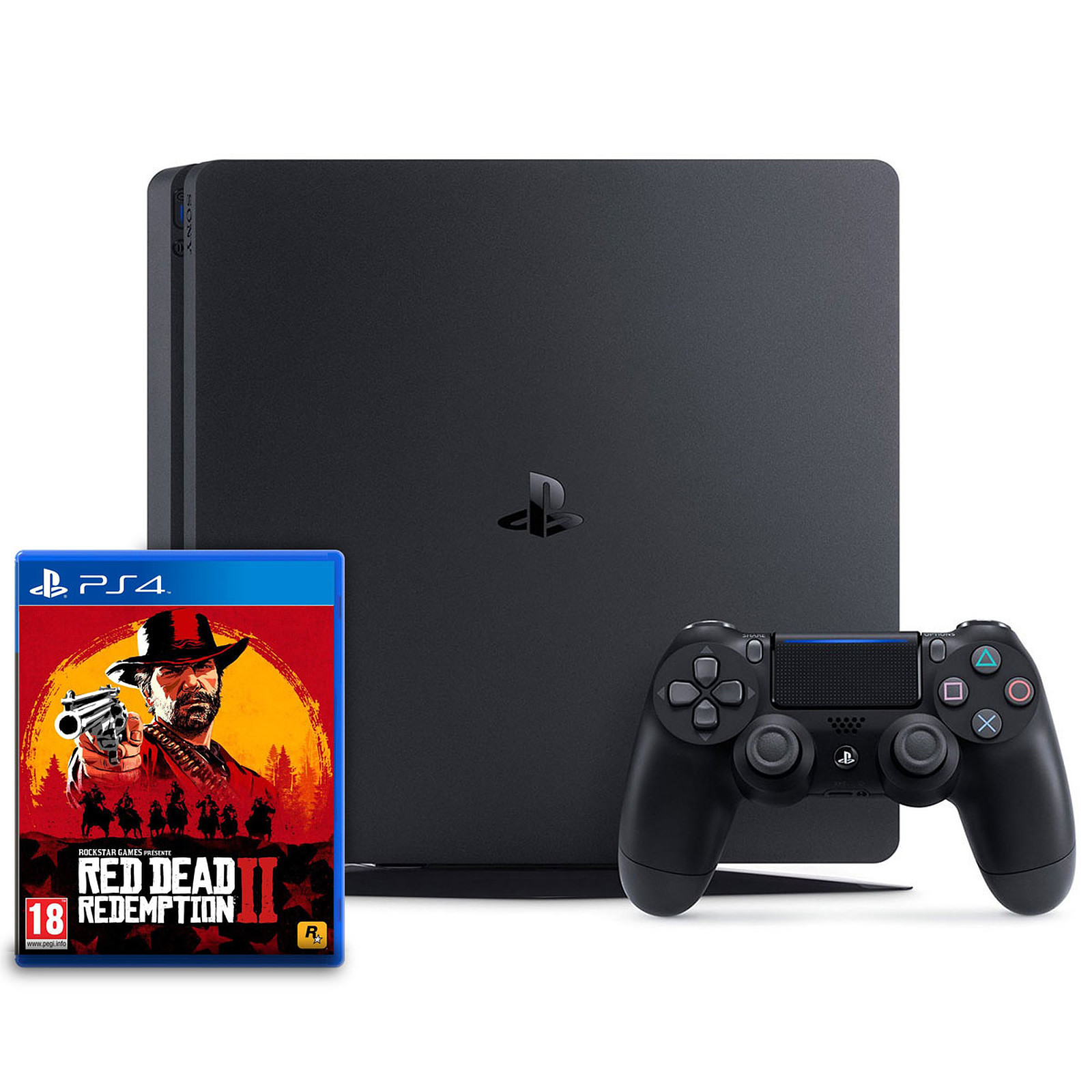 Sony PlayStation 4 Slim (1 To) + Red Dead Redemption 2