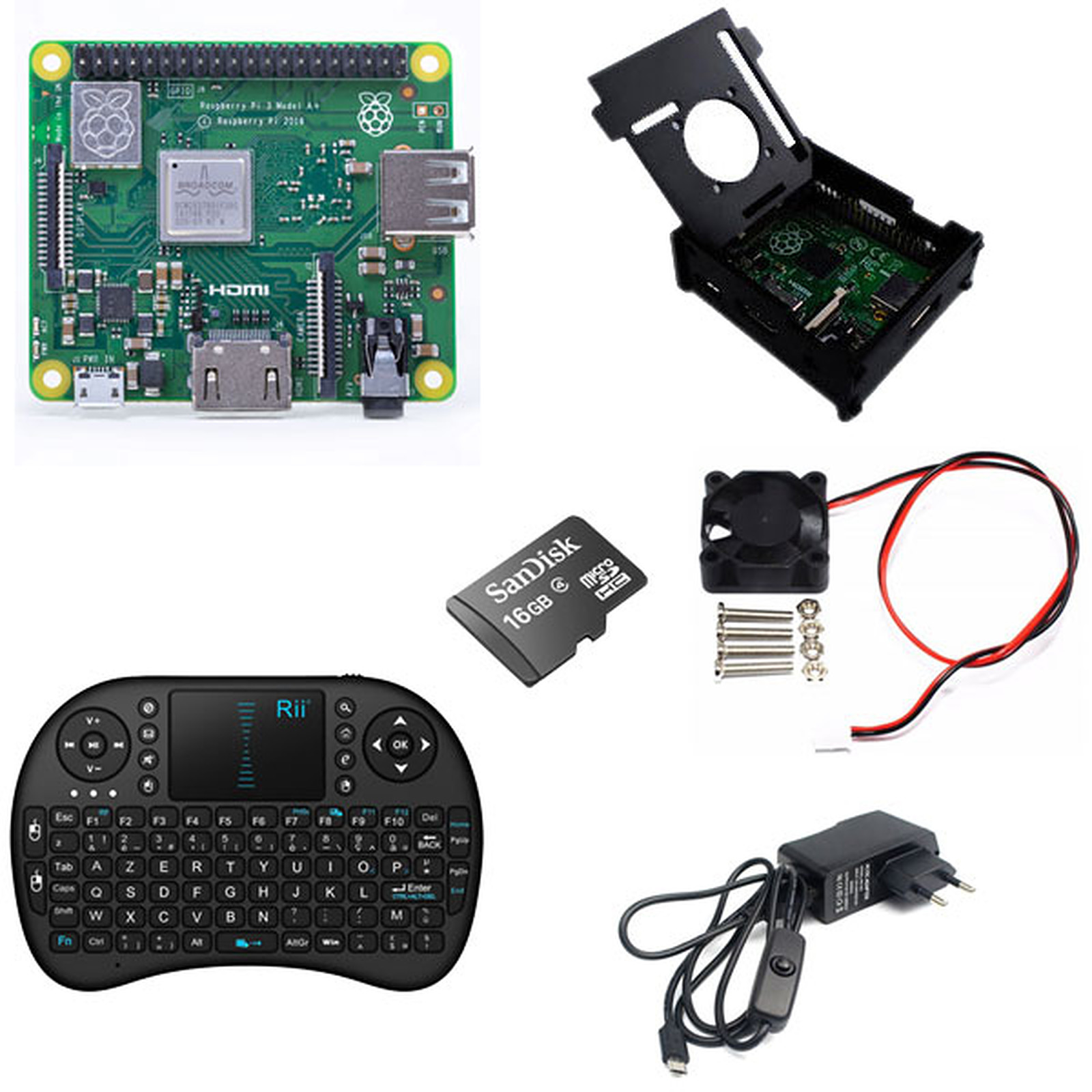 Raspberry Pi 3 A+ Multimédia Kit