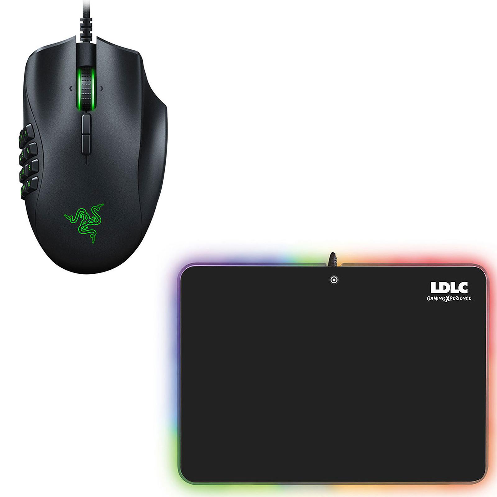 Razer Naga Trinity + LDLC RGB PAD