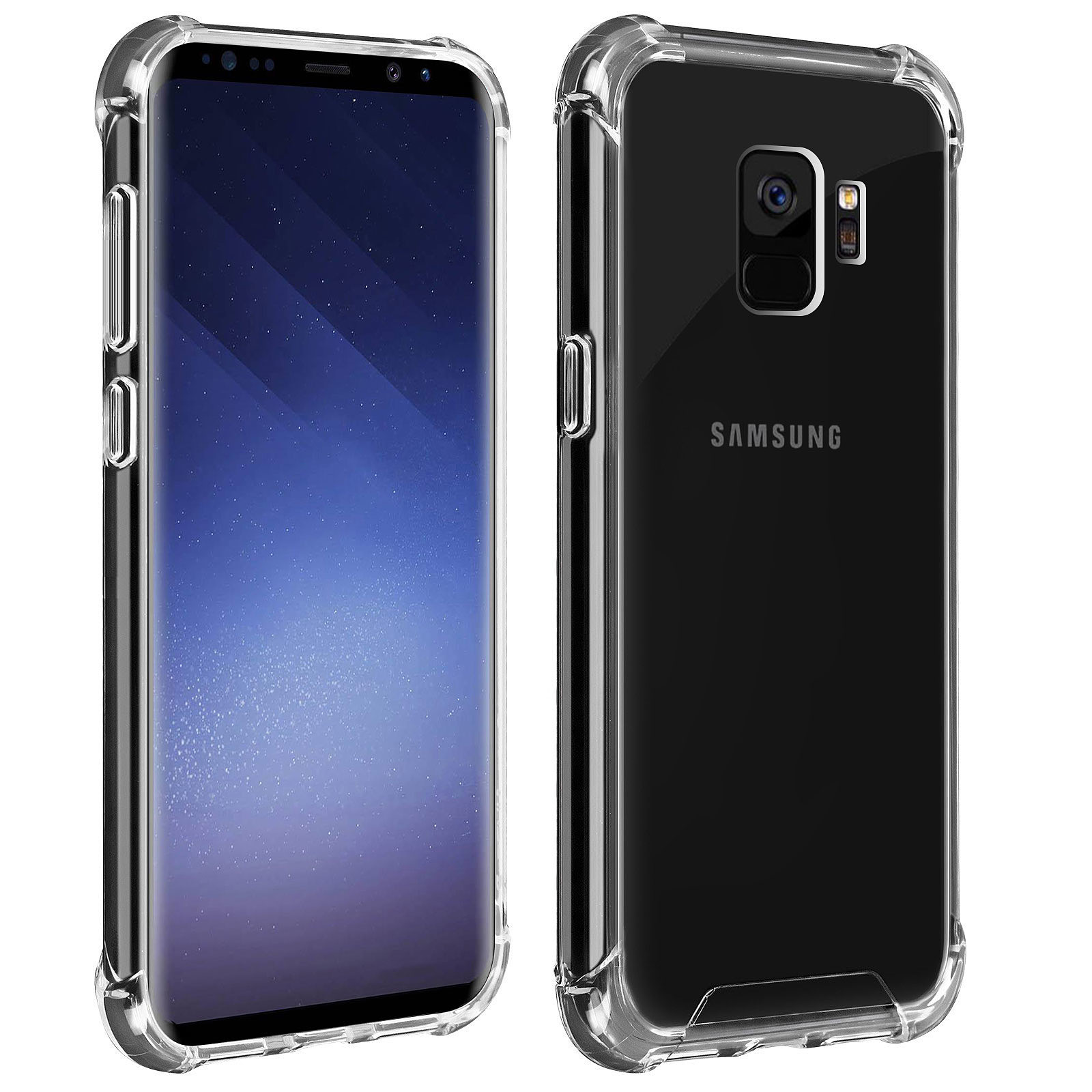 Akashi Coque TPU Angles Renforcés Samsung Galaxy S9