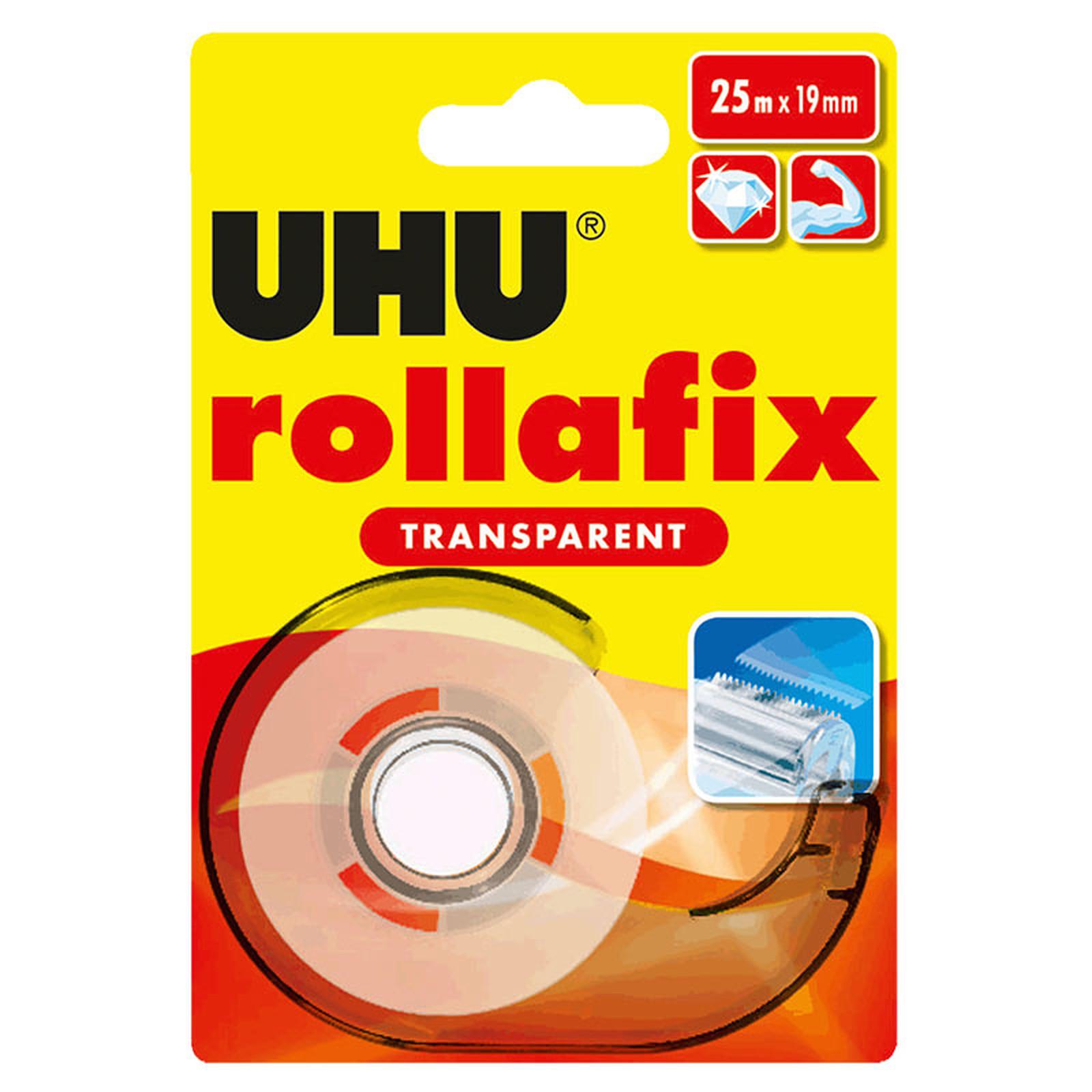 UHU Rollafix Dévidoir + Ruban Transparent - 25 m