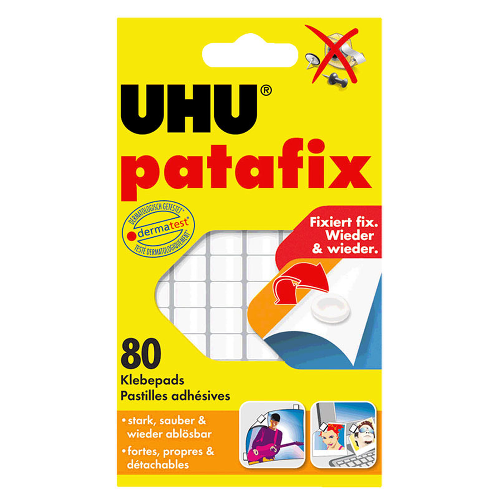 UHU Patafix 80 Pastilles Blanches