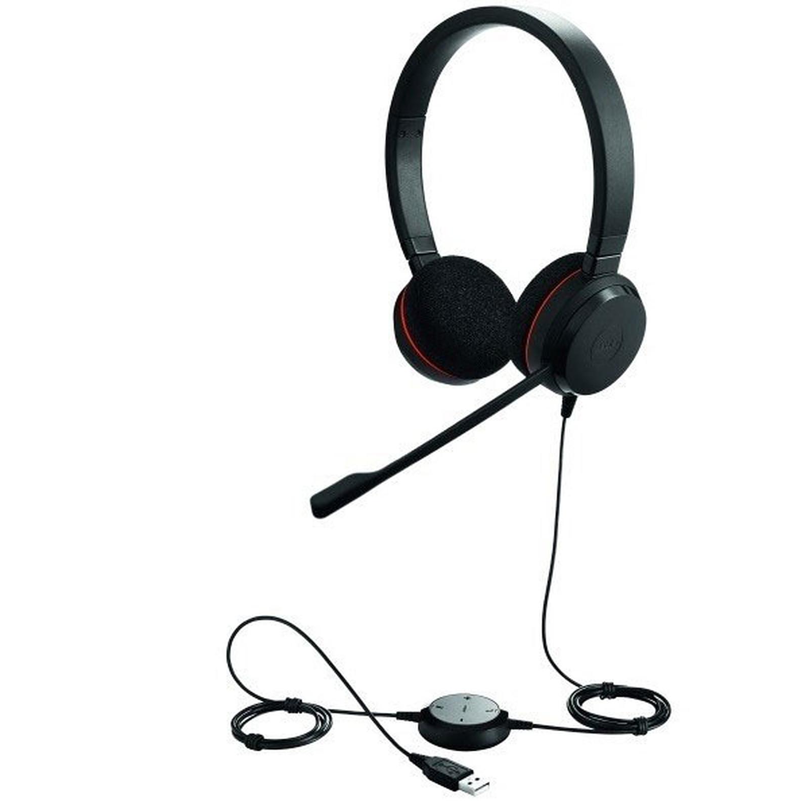 Jabra Evolve 40 conectado con auriculares est/éreo con cable negro optimizado para Microsoft Lync