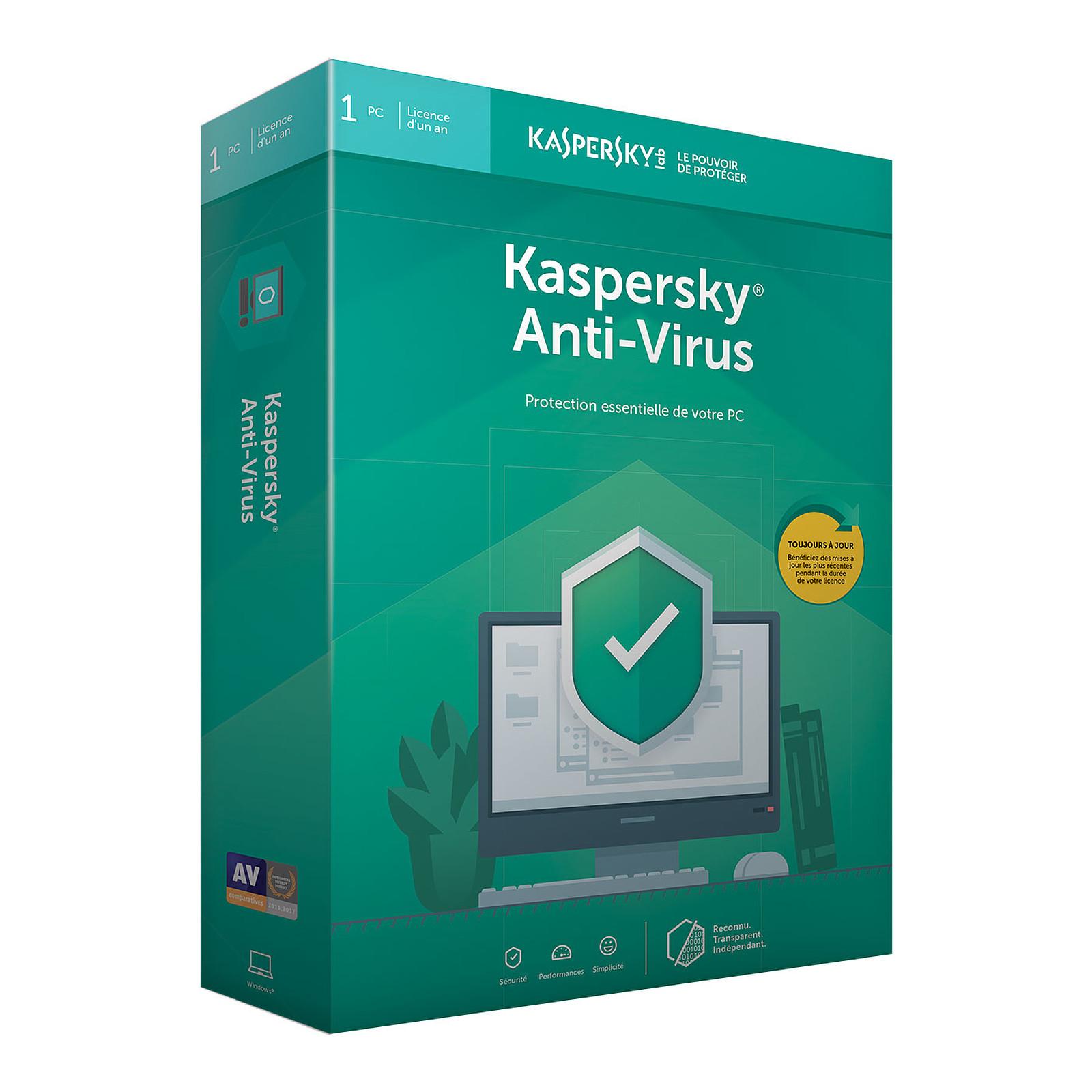 6e2a684a89e Kaspersky Anti-Virus 2019 - 1 año 1 licencia de estación de trabajo  Antivirus -