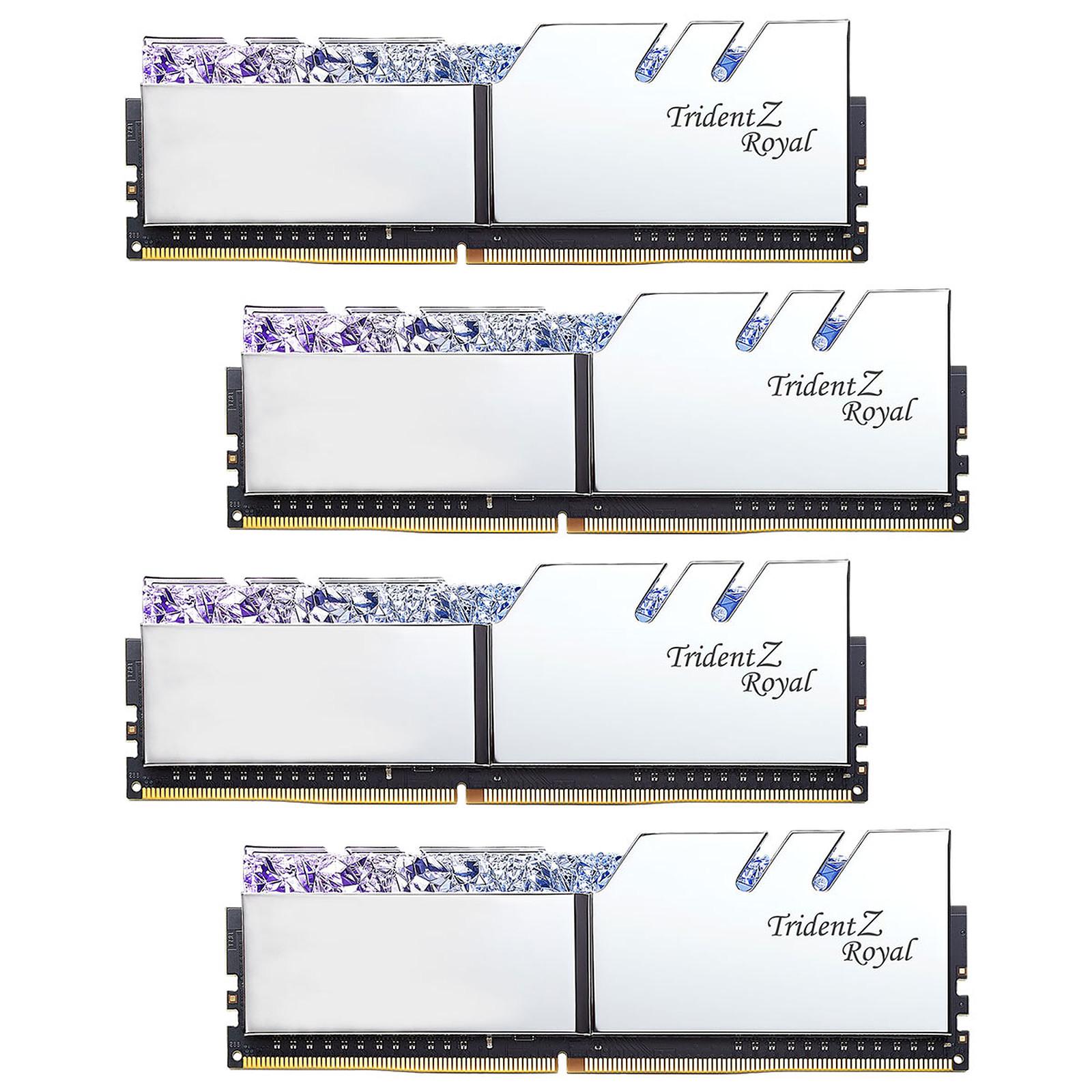 G.Skill Trident Z Royal 64 Go (4 x 16 Go) DDR4 3200 MHz CL14 - Argent