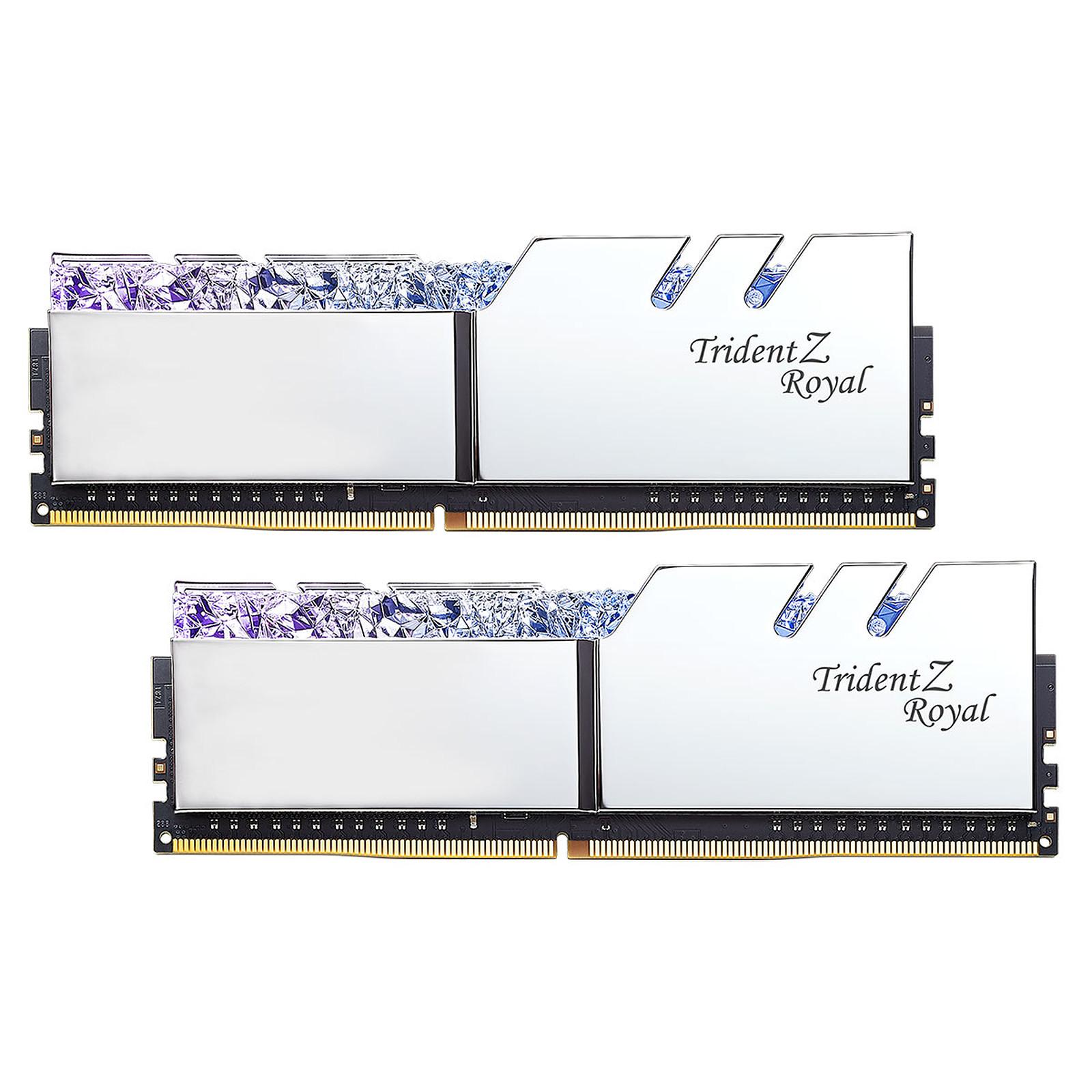 G.Skill Trident Z Royal 32 Go (2 x 16 Go) DDR4 4000 MHz CL19 - Argent