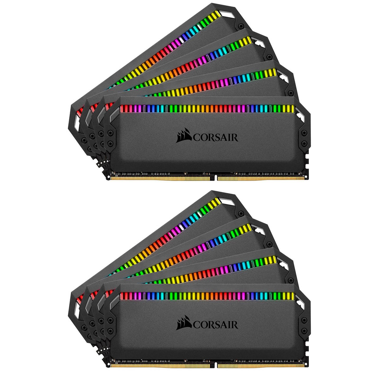 Corsair Dominator Platinum RGB 128 Go (8 x 16 Go) DDR4 3800 MHz CL19