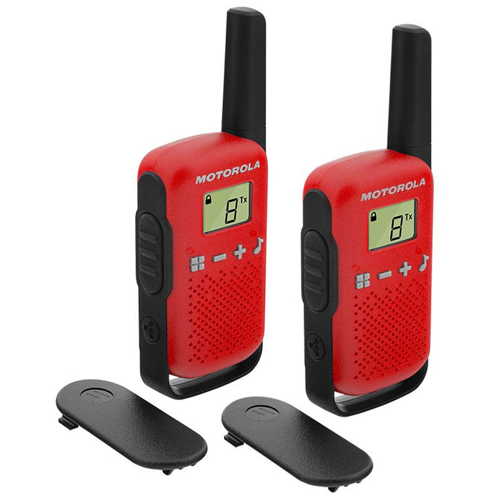 Motorola TALKABOUT T42 Twin Pack Rouge