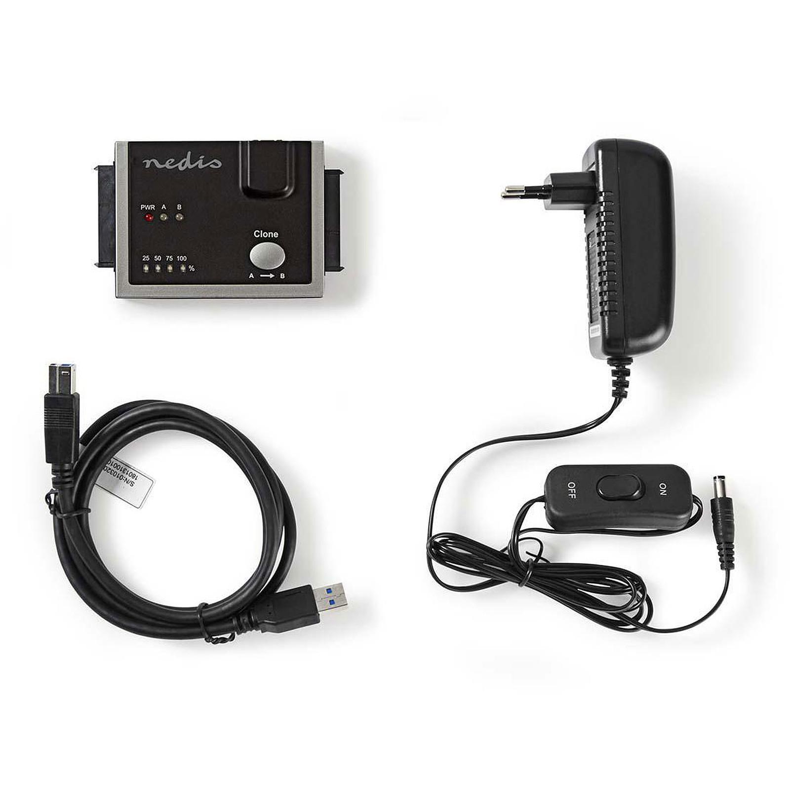 Nedis USB 3.0 to Dual SATA Hard Disk Driver Adapter