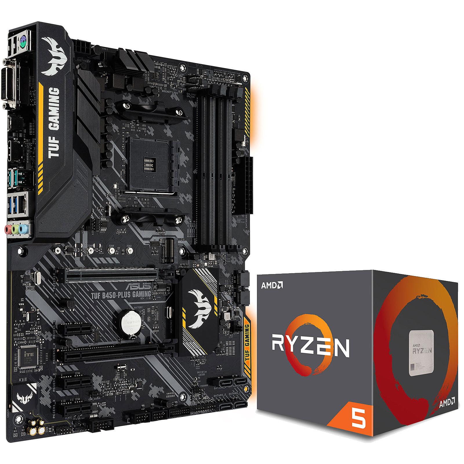 Kit Upgrade PC AMD Ryzen 5 2600X ASUS TUF B450-PLUS GAMING