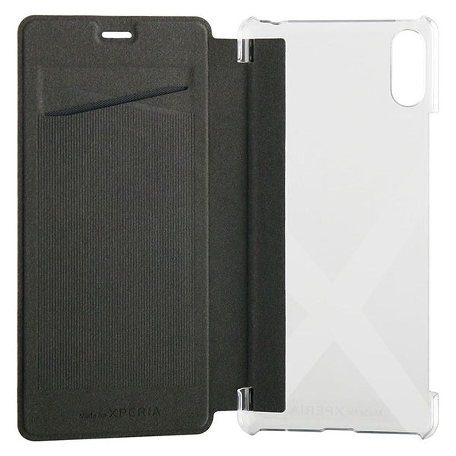 Made for Xperia Etui Folio Case Noir Sony Xperia L3