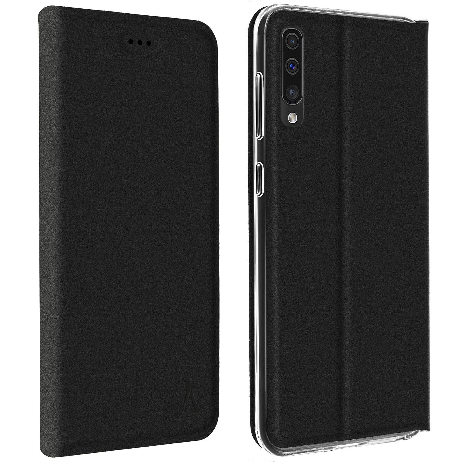 Akashi Etui Folio Porte Carte Noir Galaxy A50