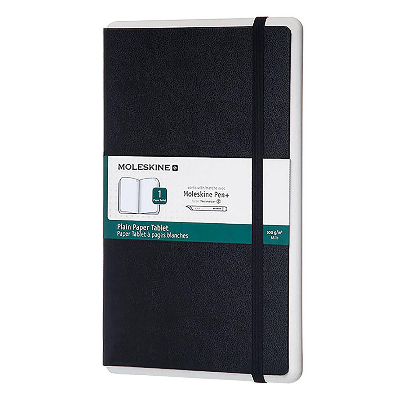 Moleskine Paper Tablet Pages Blanches Noir