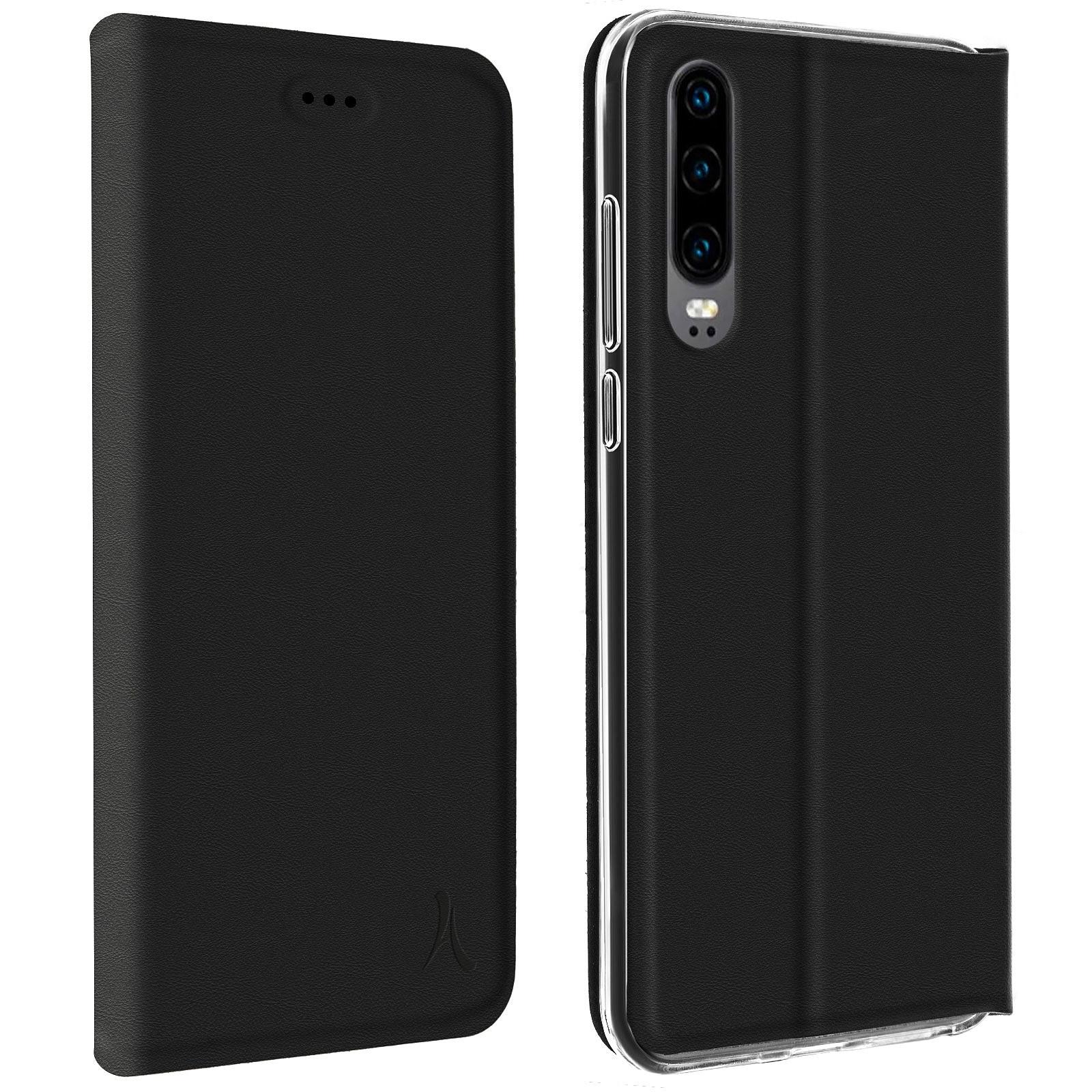 Akashi Etui Folio Porte Carte Noir Huawei P30