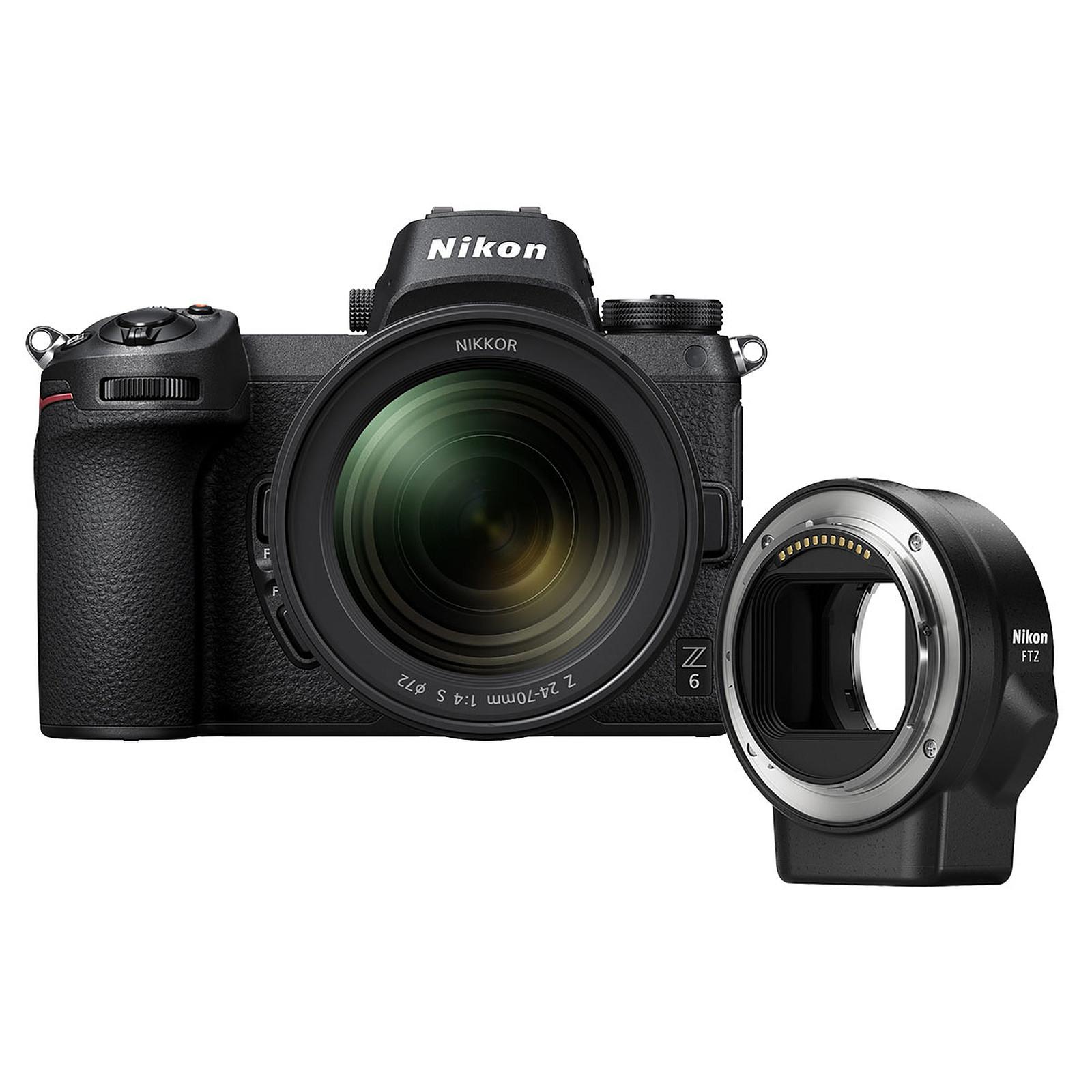 Nikon Z 6 + 24-70mm f/4 S + Adaptateur FTZ