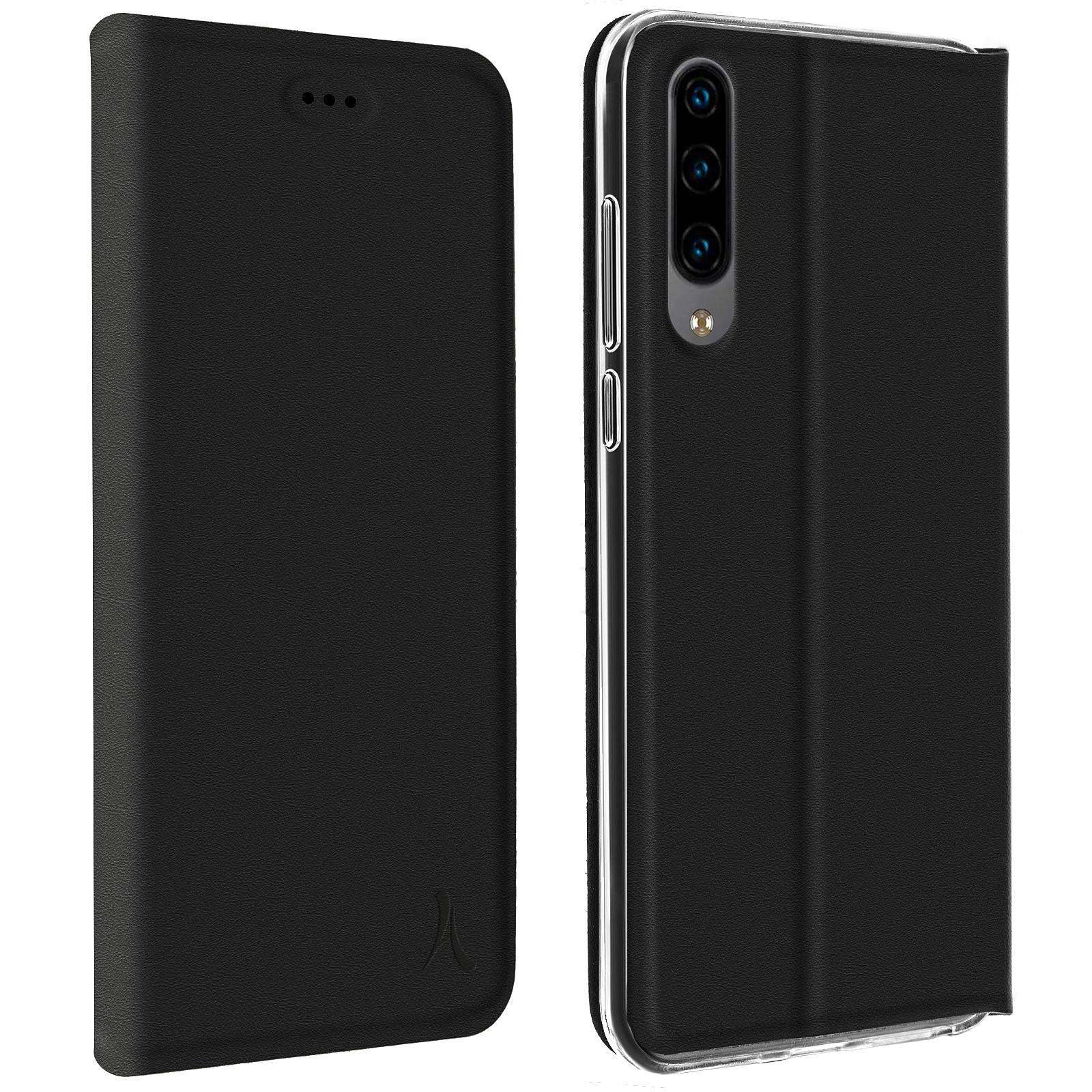 Akashi Etui Folio Porte Carte Noir Huawei P30 Lite