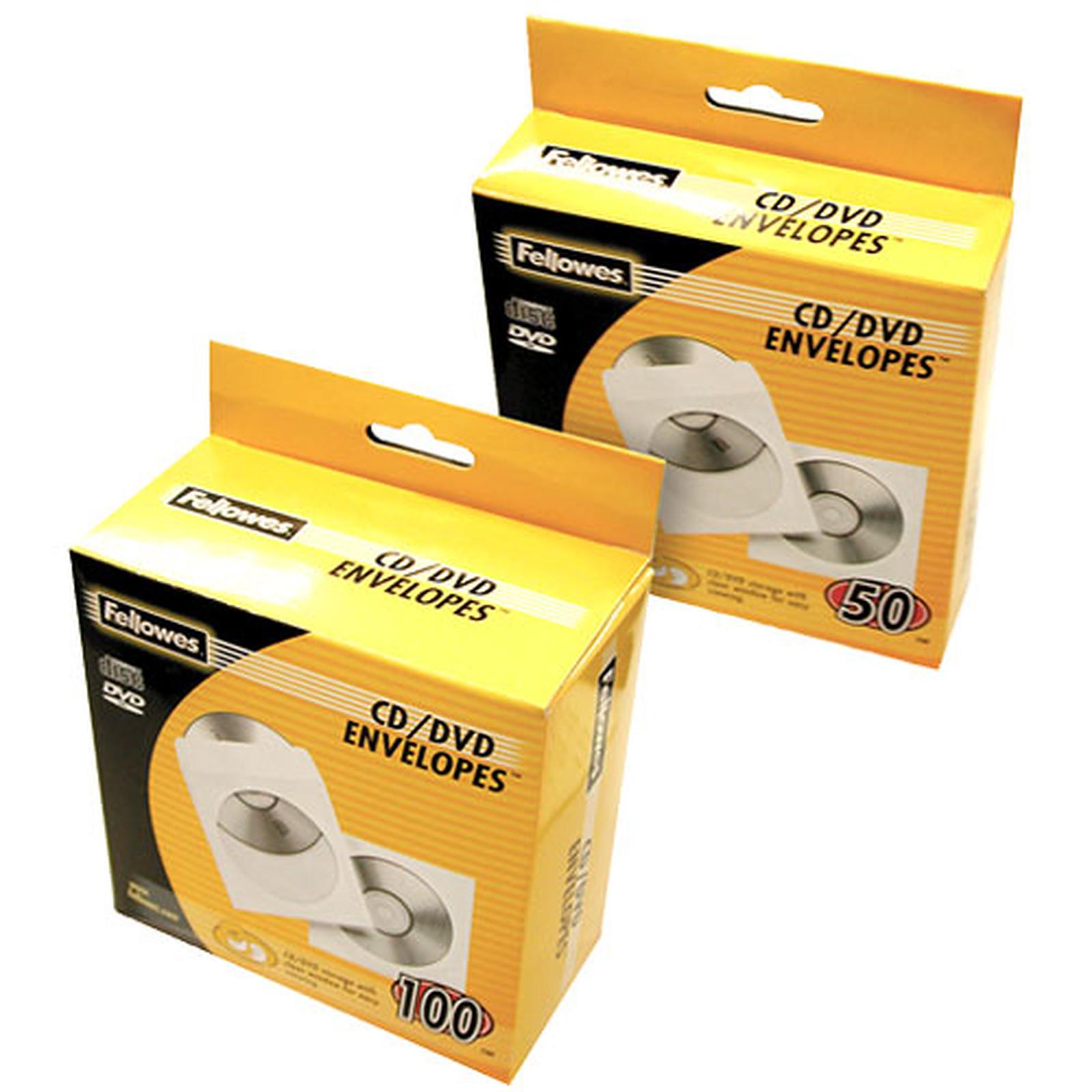 Fellowes 100 sobres de papel para CD/DVD