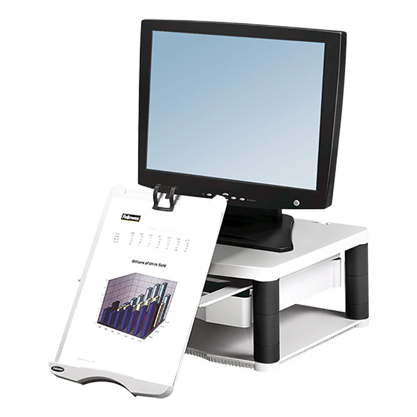 Fellowes Premium Plus Soporte para monitores - Gris
