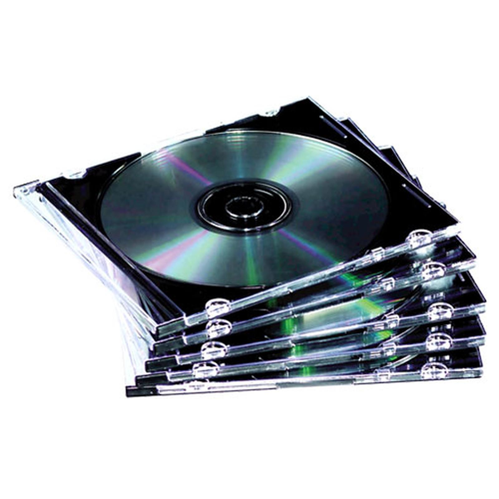 Fellowes 10 Boîtiers Slimline CD