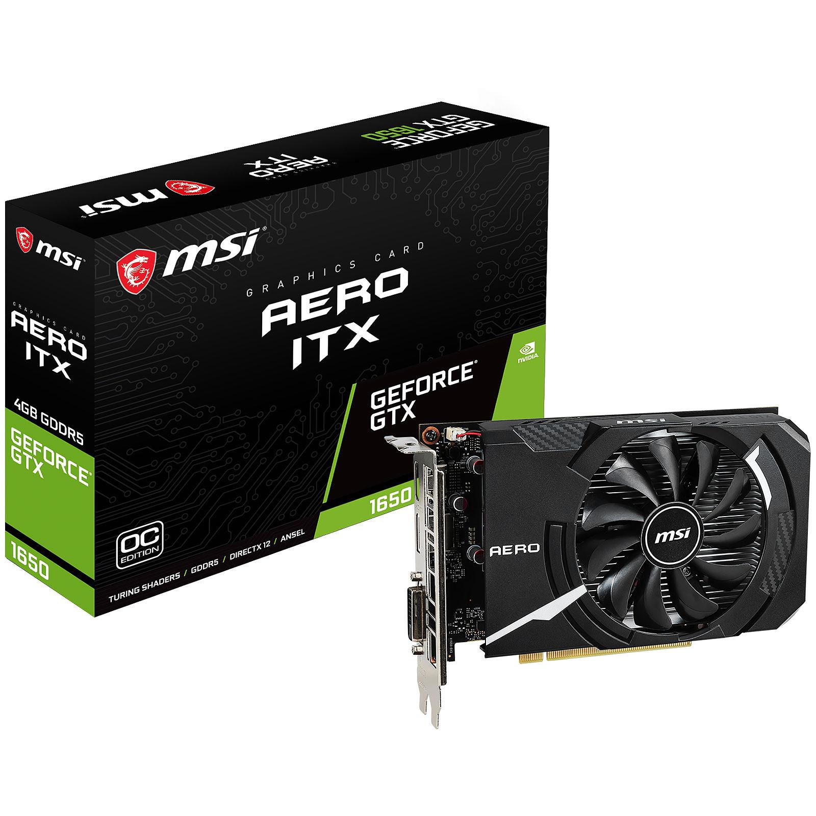 MSI GeForce GTX 1050 Aero ITX 2G OCV1 Tarjeta Gr/áfica Aero