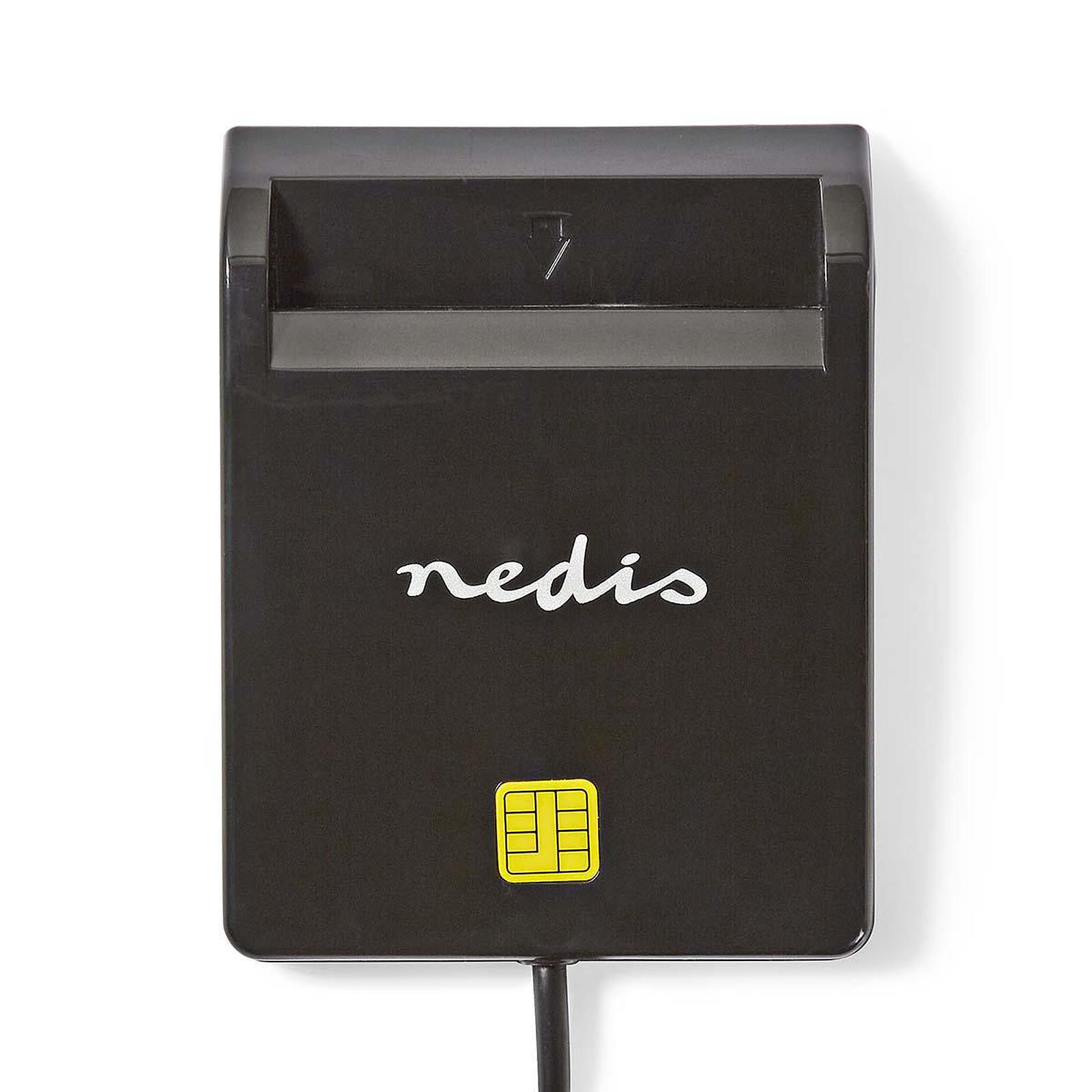 Nedis Lecteur de carte à puce horizontal (CRDRU2SM2BK)