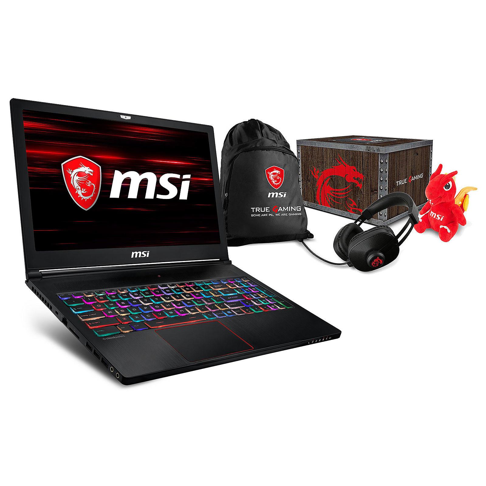 MSI GS63 8RE-056FR Stealth + MSI Loot Box - Level 2 OFFERTE !