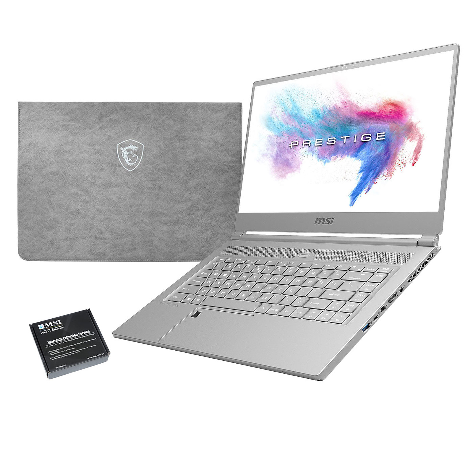 MSI P65 8RE-018FR Creator + MSI Sleeve Bag OFFERT + Extension de garantie 1 an supplémentaire