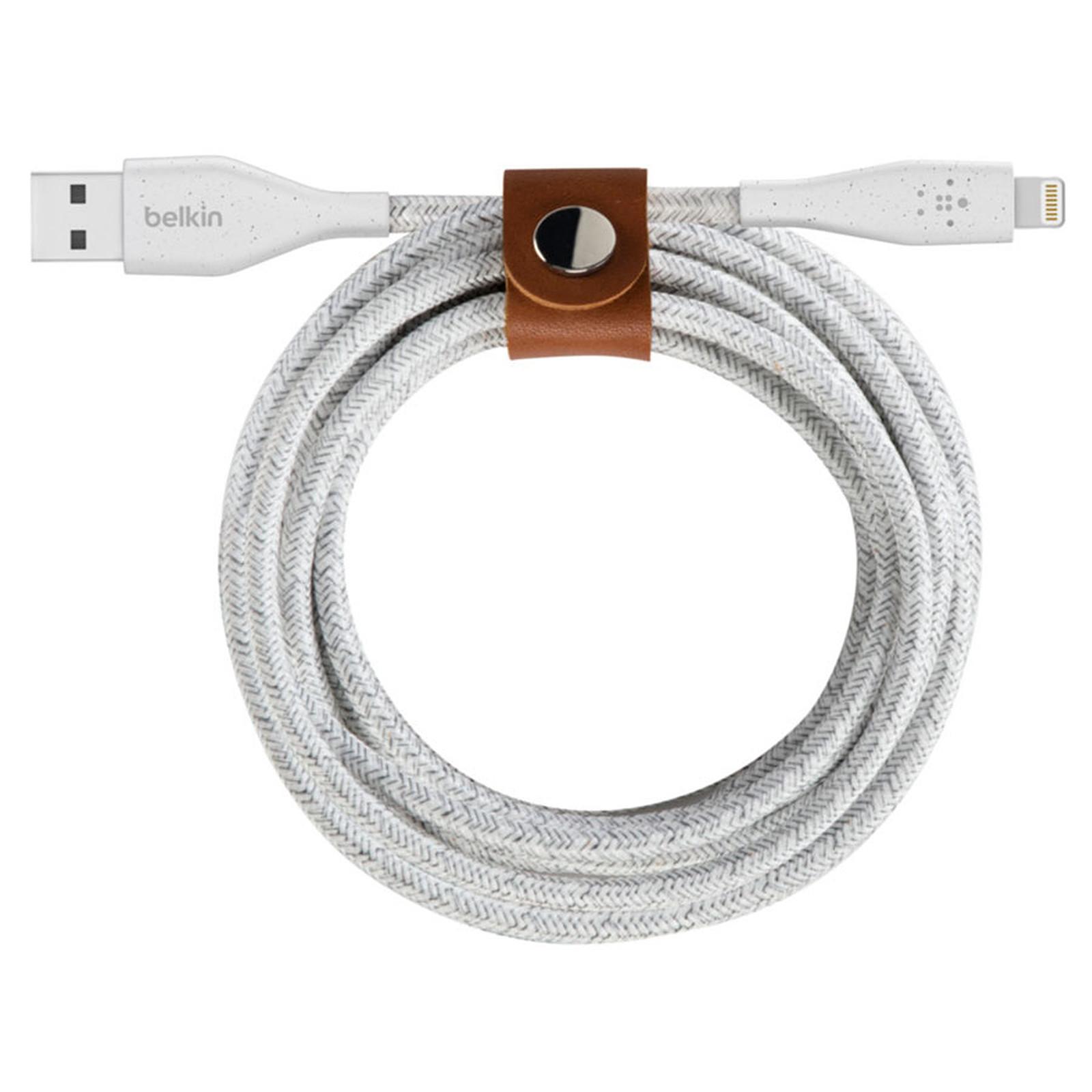 Belkin Câble Lightning vers USB DuraTek Plus - 1.2 m (Blanc)