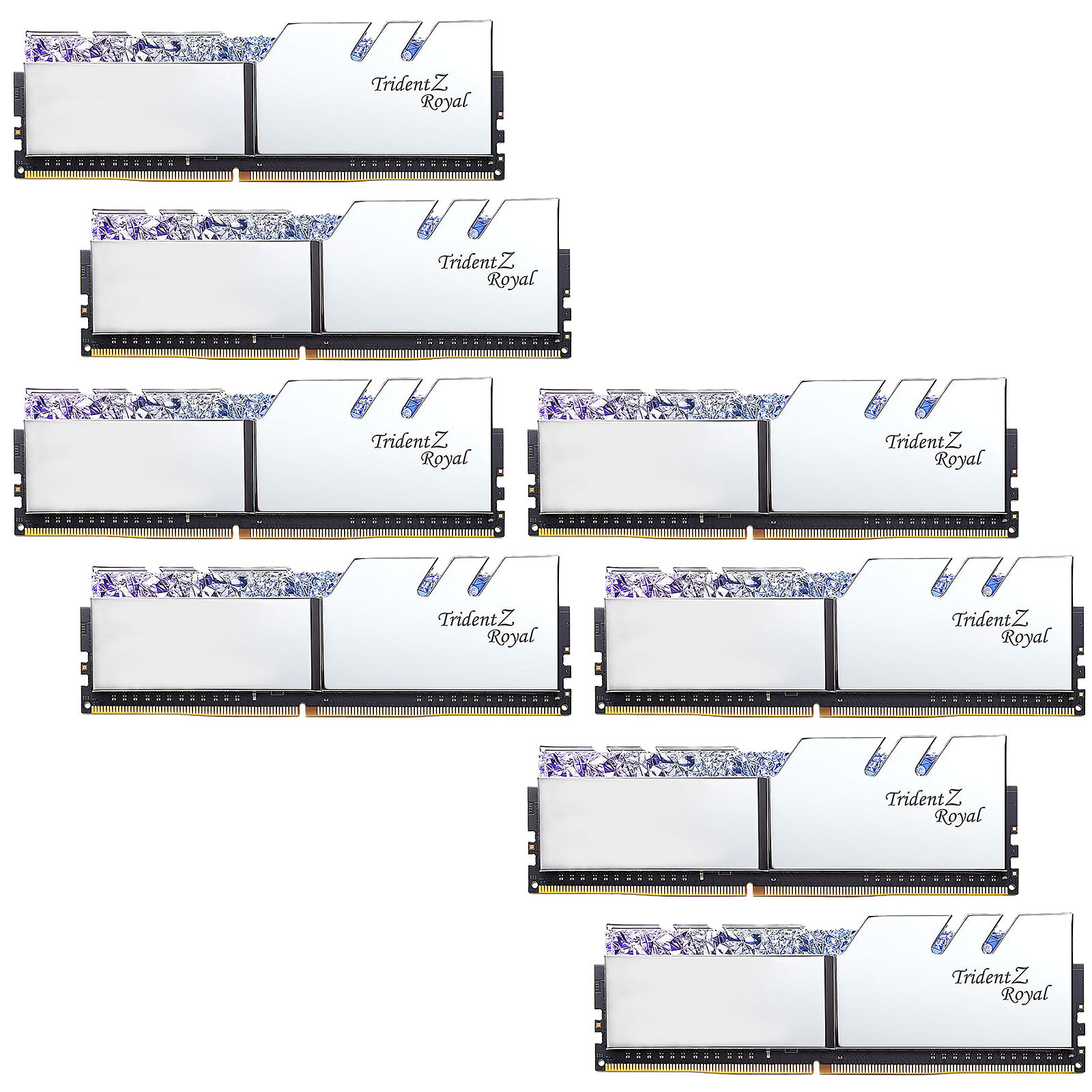 G.Skill Trident Z Royal 64 Go (8 x 8 Go) DDR4 3200 MHz CL14 - Argent
