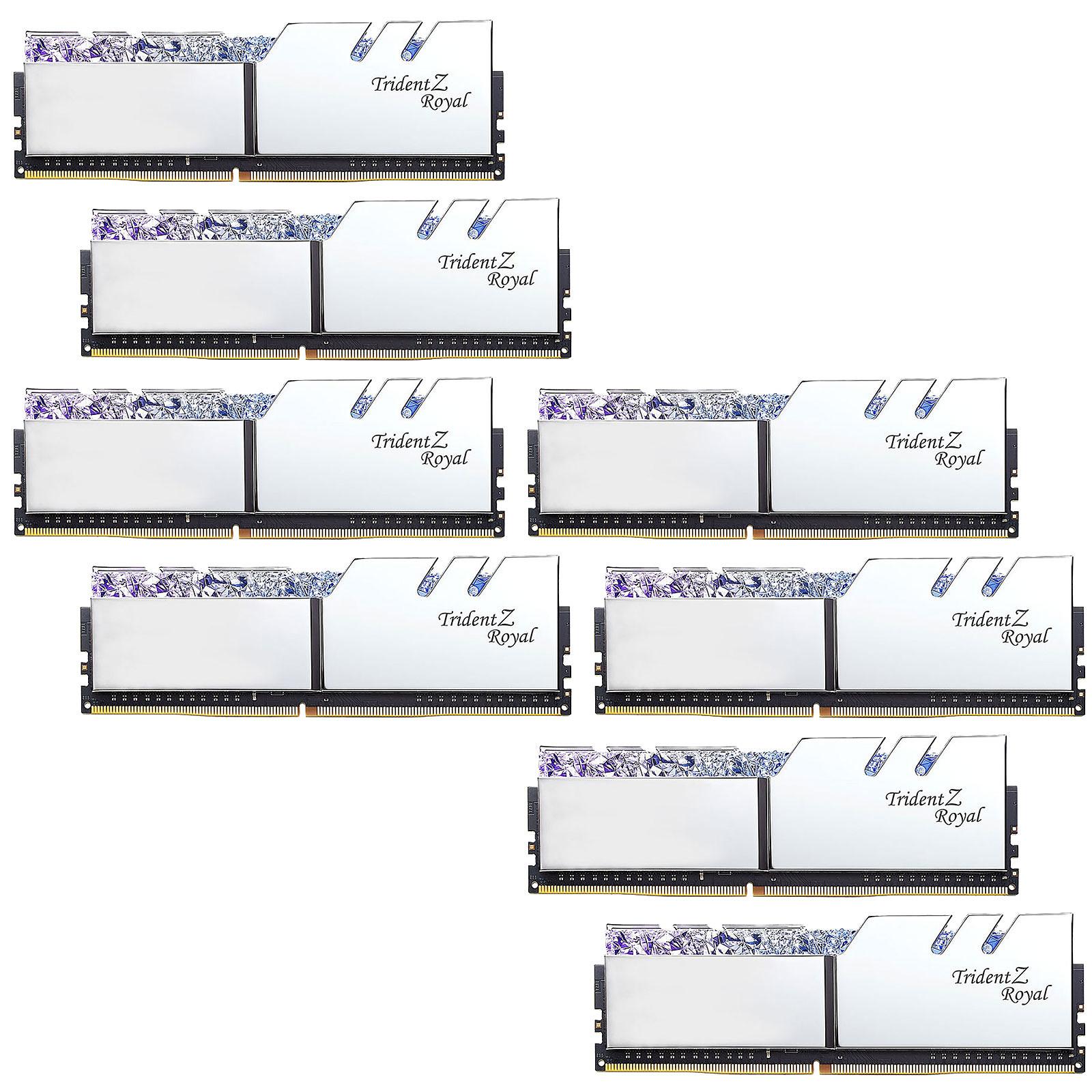 G.Skill Trident Z Royal 128 Go (8 x 16 Go) DDR4 3200 MHz CL16 - Argent