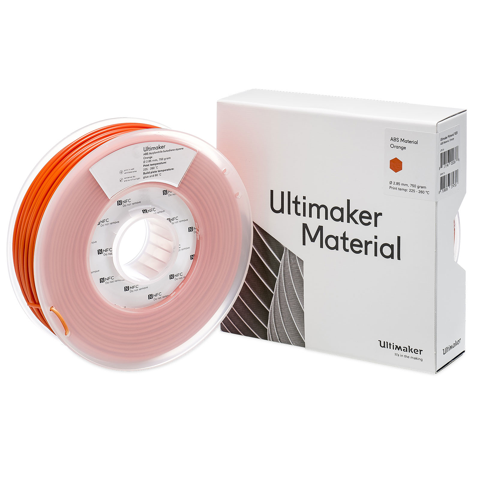 Ultimaker ABS Orange 750g