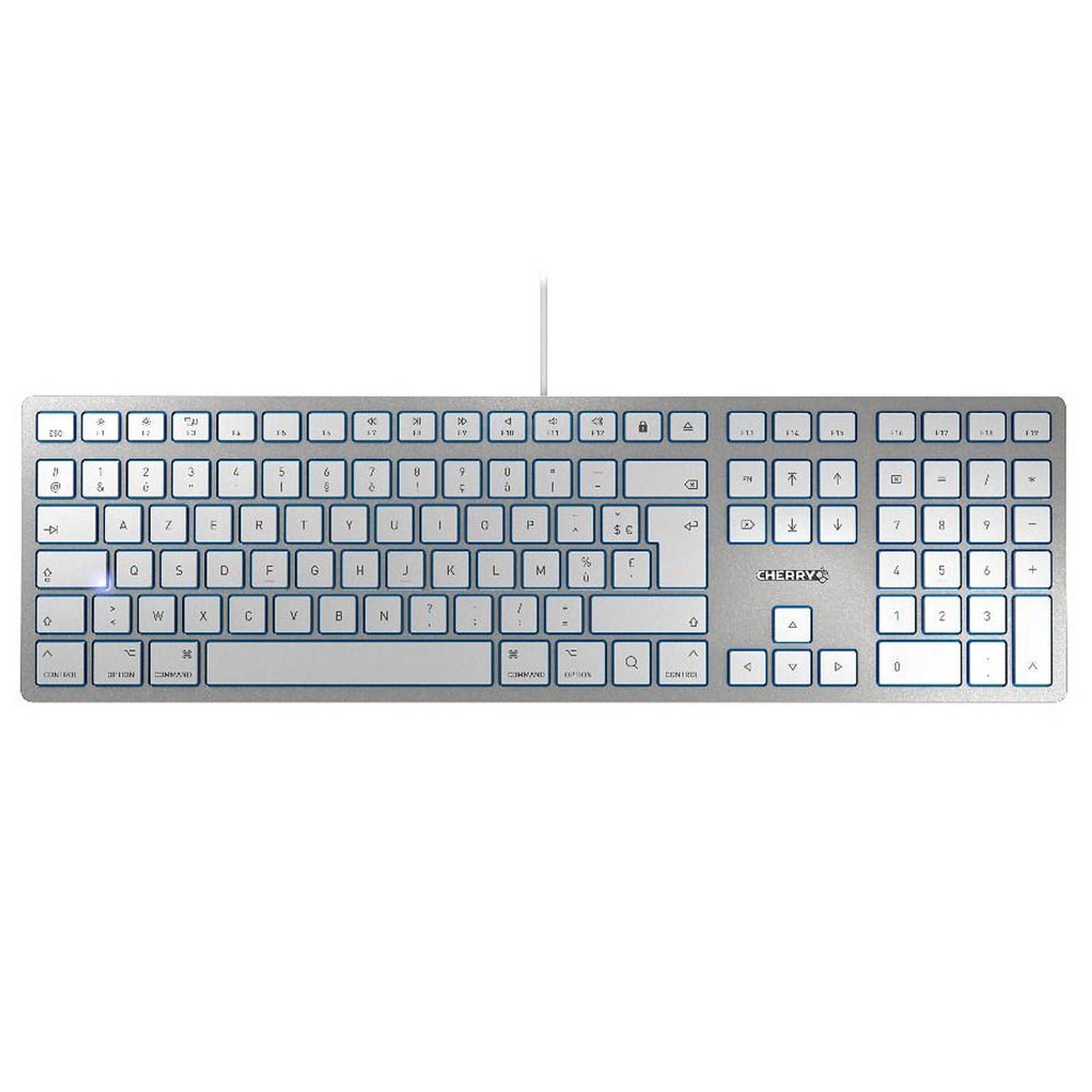 Cherry KC 6000 Slim for Mac (argent)