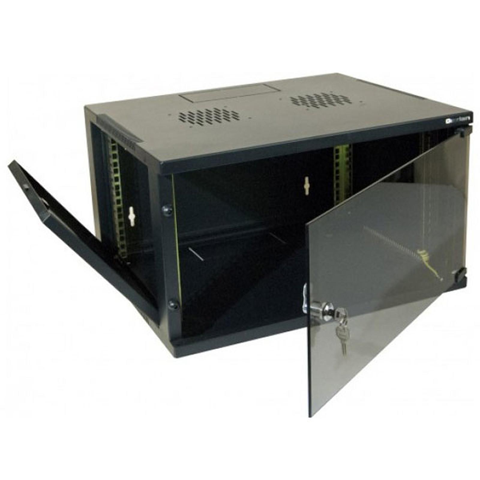 Dexlan coffret réseau - fixe - largeur 19'' - hauteur 20U - profondeur 60 cm - charge utile 35 kg - coloris noir
