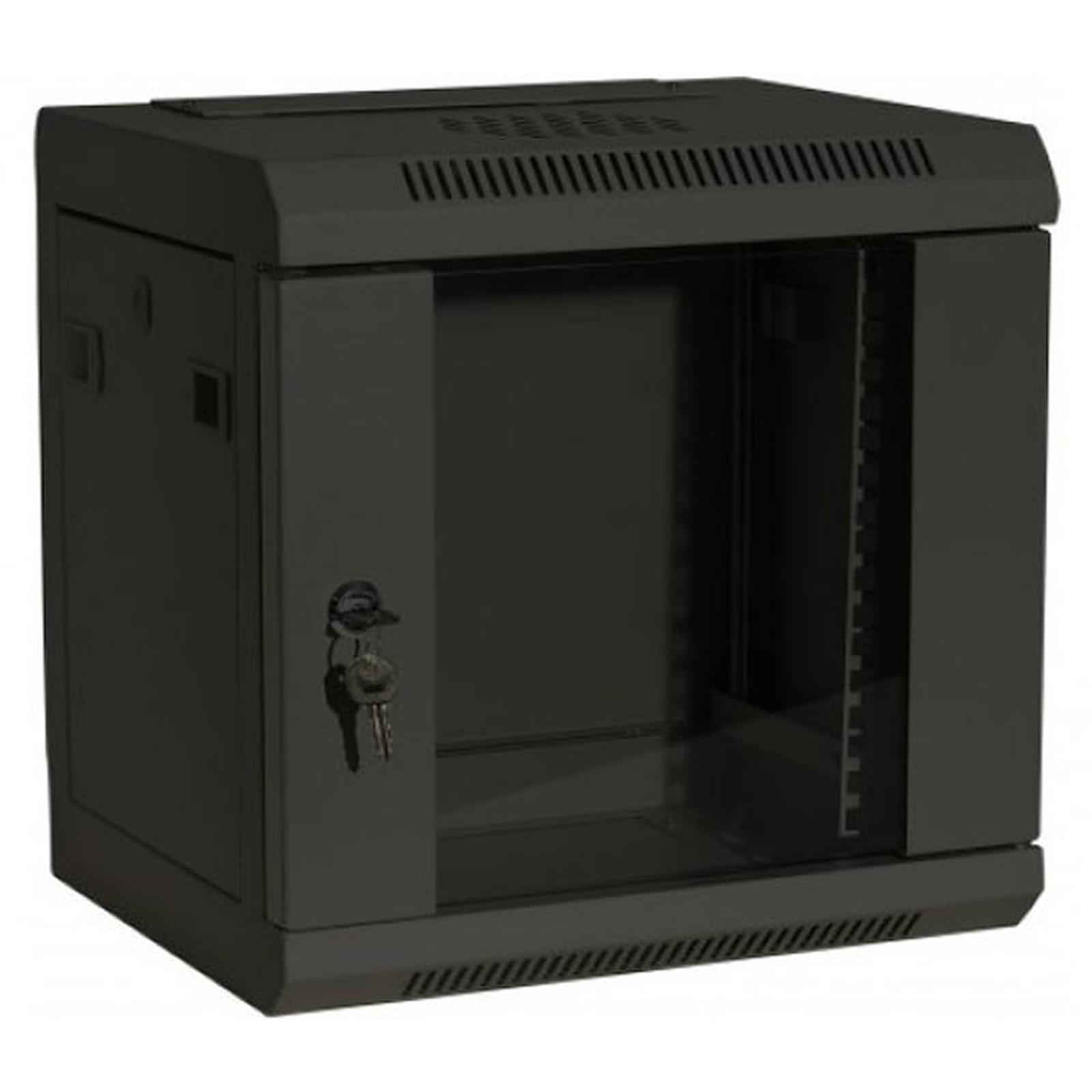 Dexlan coffret réseau - fixe - largeur 10'' - hauteur 9U - profondeur 28 cm - charge utile 10 kg - coloris noir