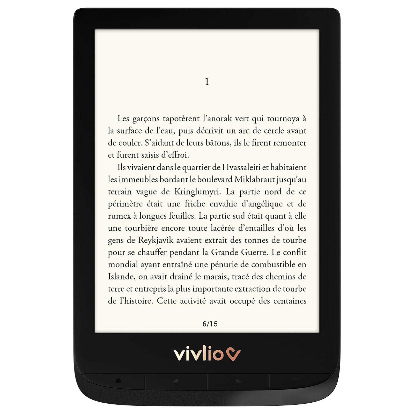 Vivlio Touch Lux 4 Noir + Pack d'eBooks OFFERT